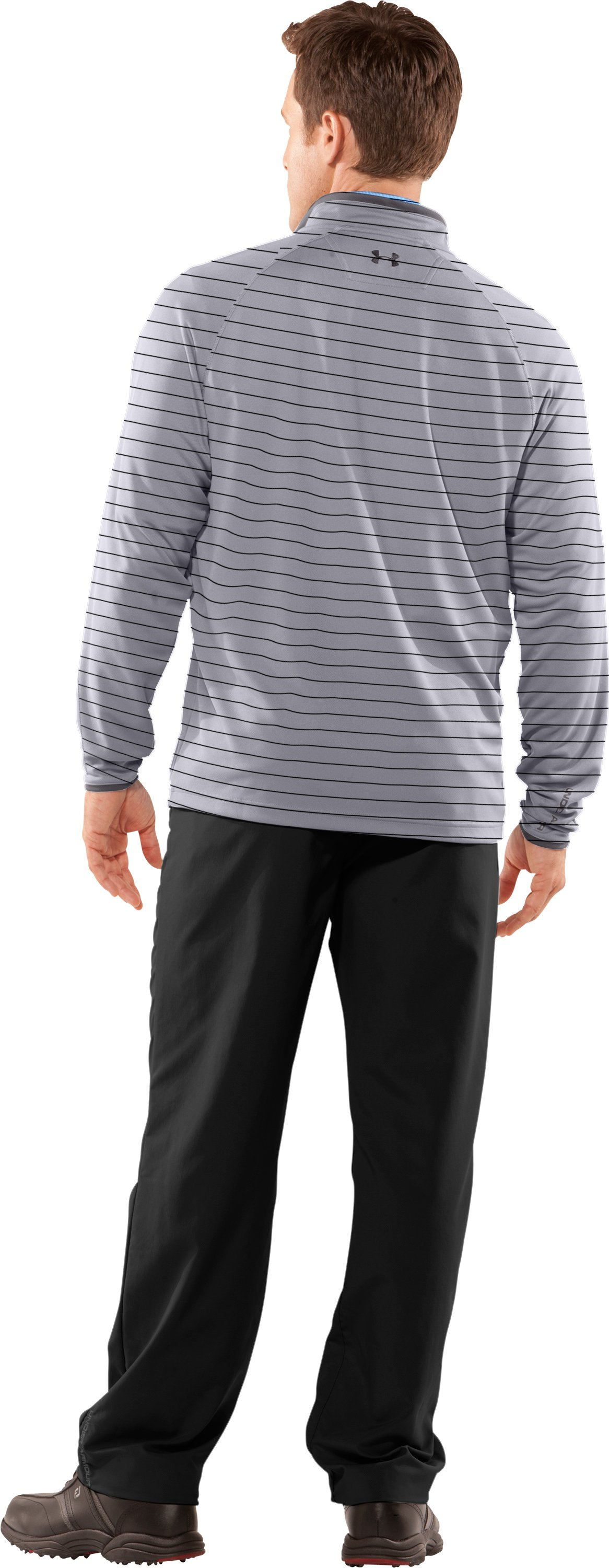 Men's UA Ace Golf ¼ Zip, Aluminum, Back