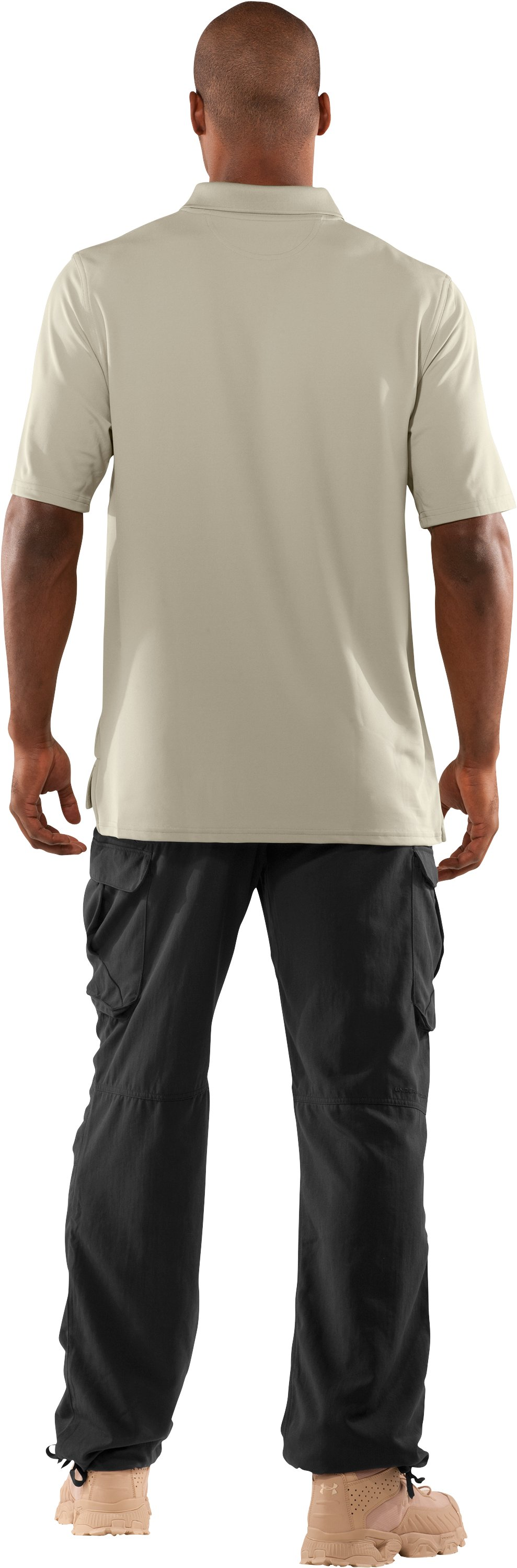 Men's WWP Polo, Desert Sand, Back