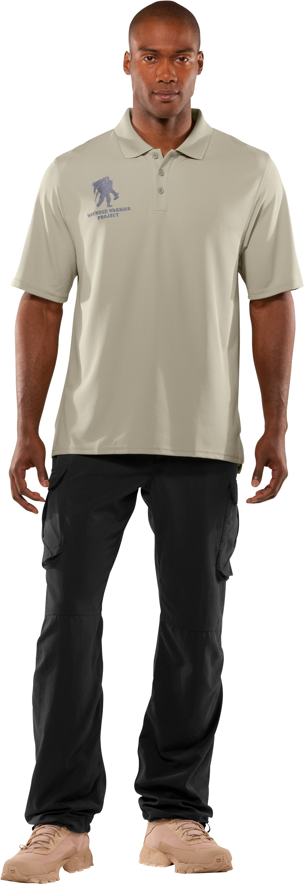 Men's WWP Polo, Desert Sand