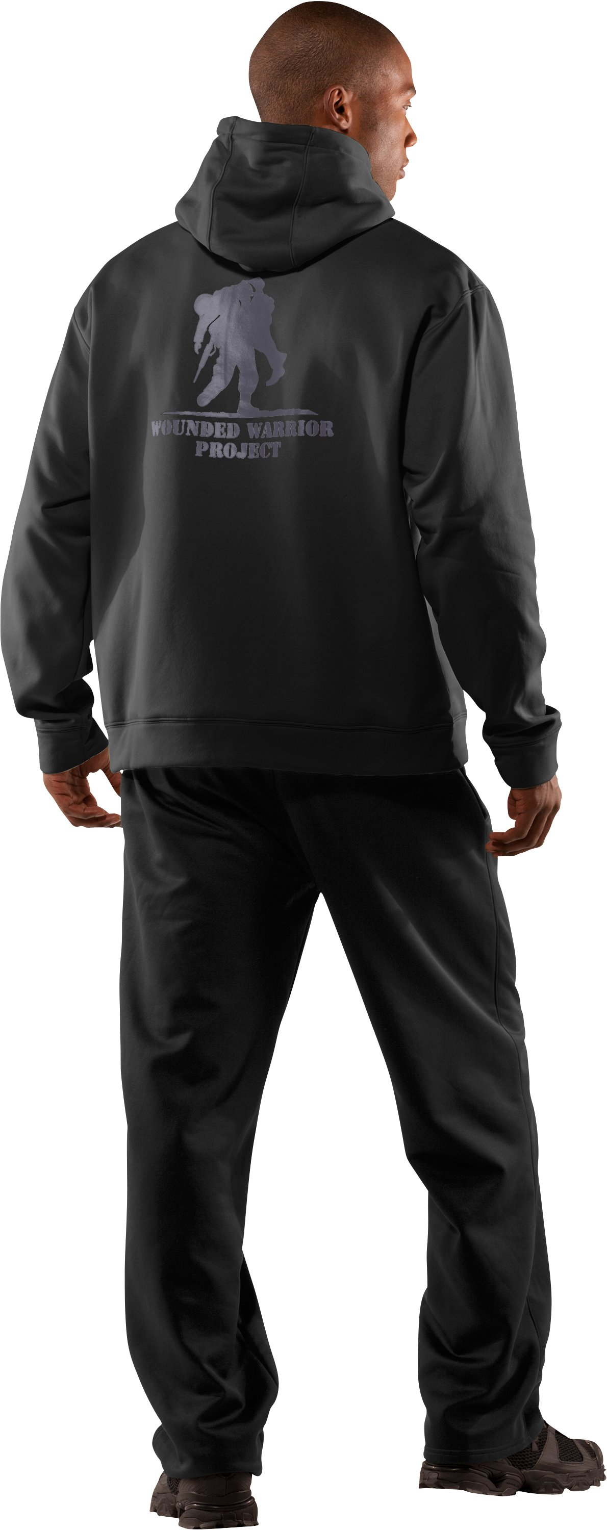 Men's WWP Hoodie, Black , Back