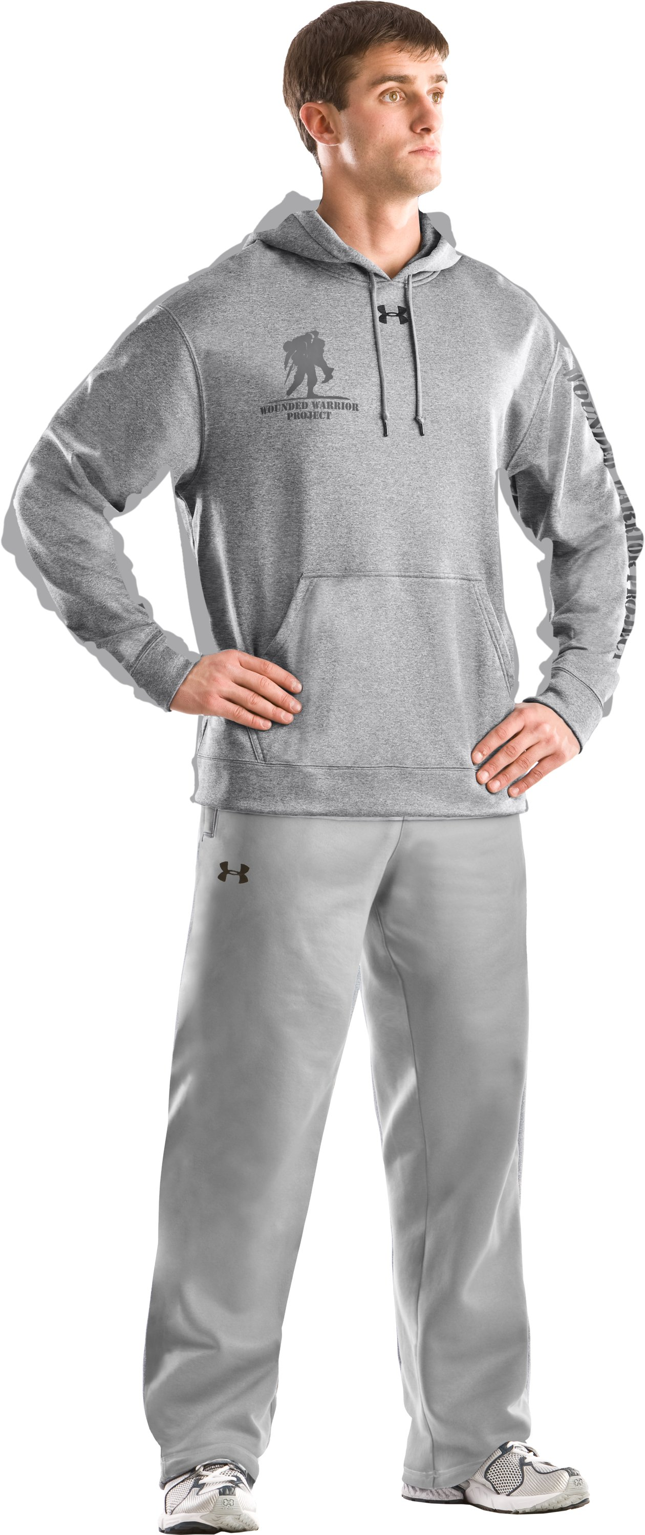 Men's WWP Hoodie, Medium Gray Heather, Front