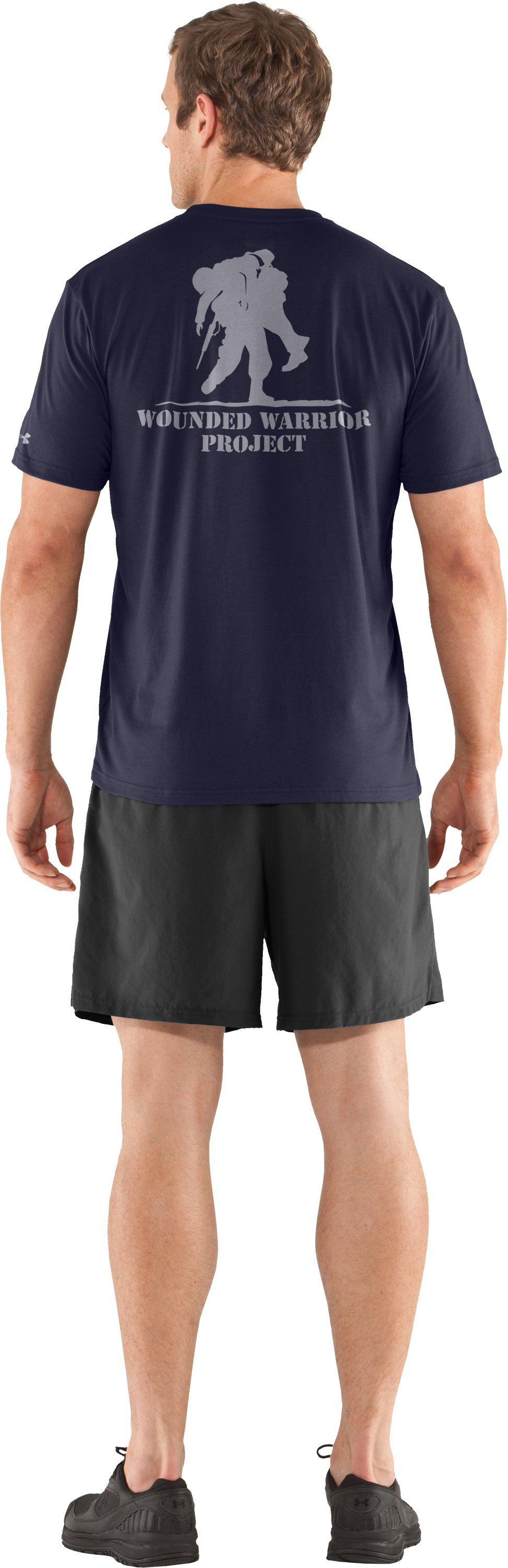 Men's WWP Graphic Short Sleeve T-Shirt, Midnight Navy, Back