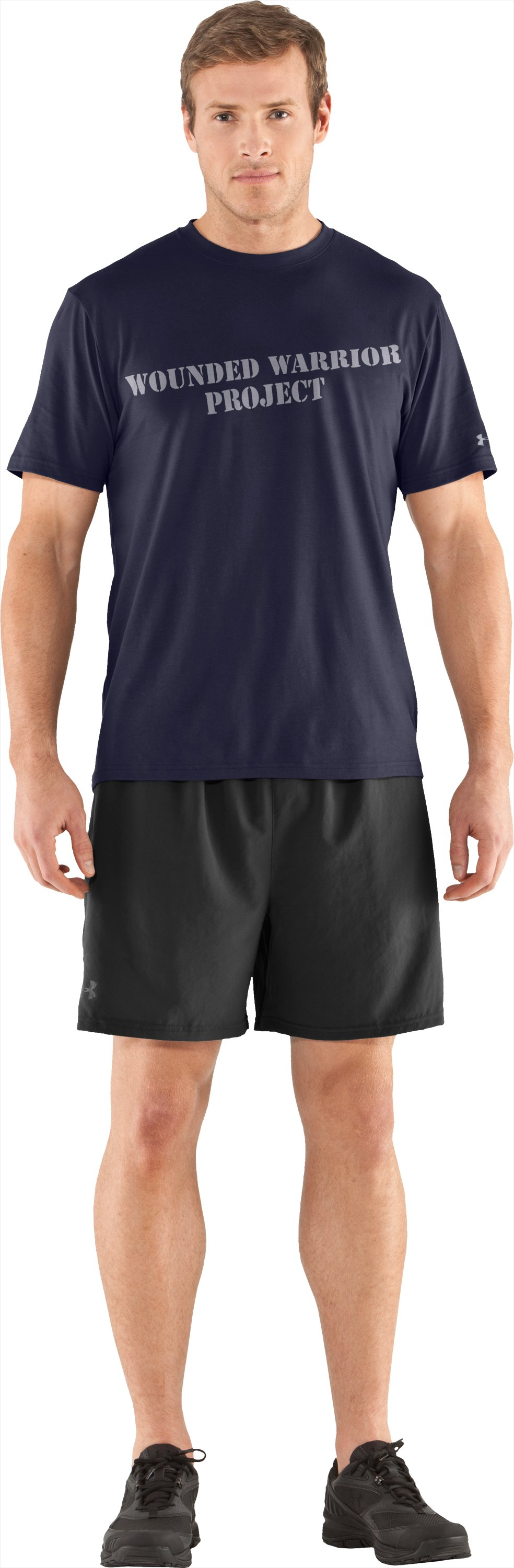 Men's WWP Graphic Short Sleeve T-Shirt, Midnight Navy, Front