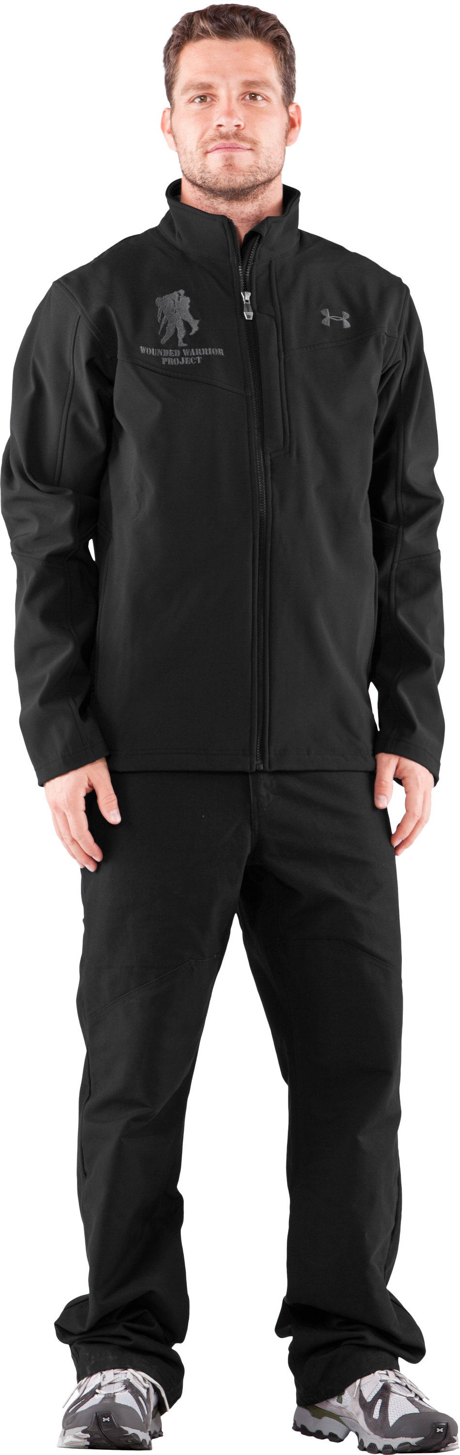 Men's WWP Jacket, Black , Front