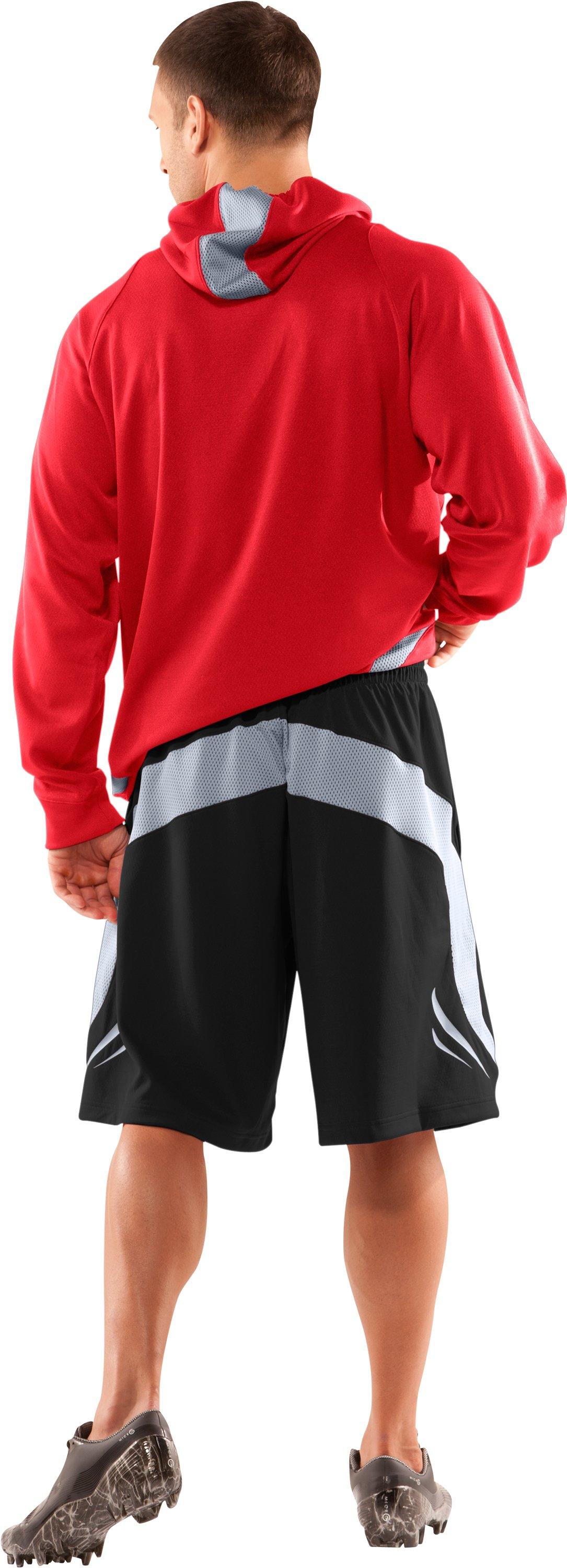 Men's UA Red Zone Shorts, Black , Back