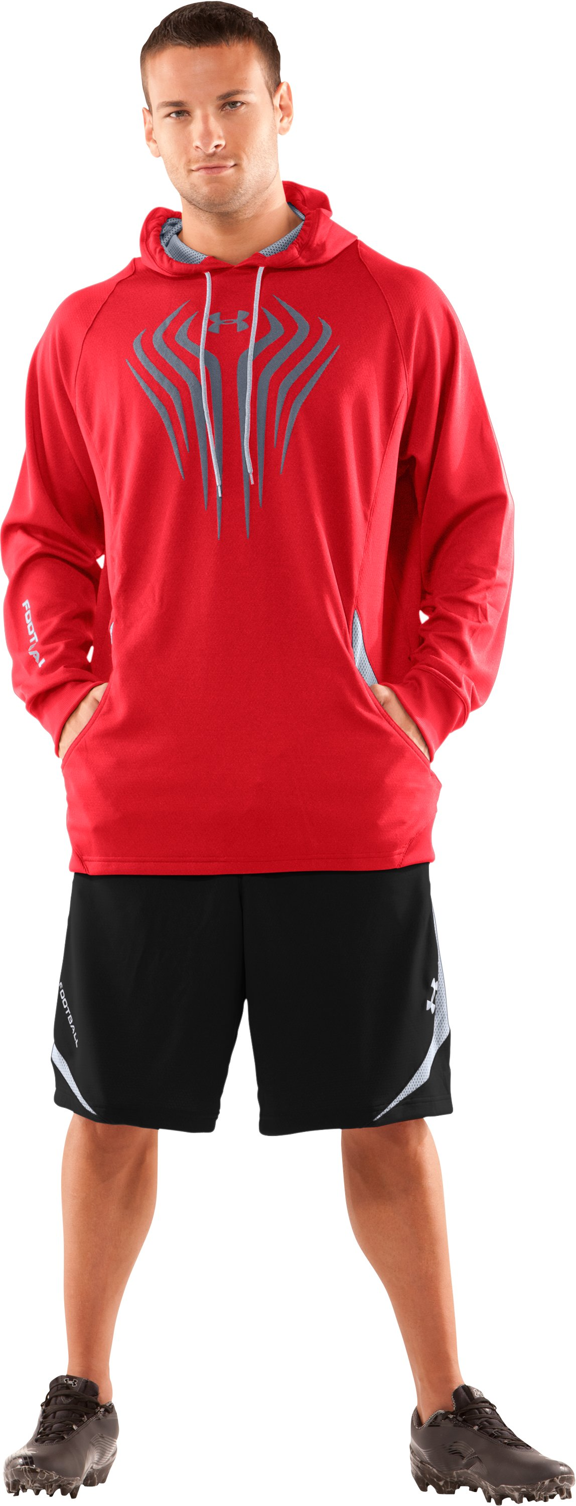 Men's UA Red Zone Shorts, Black , Front