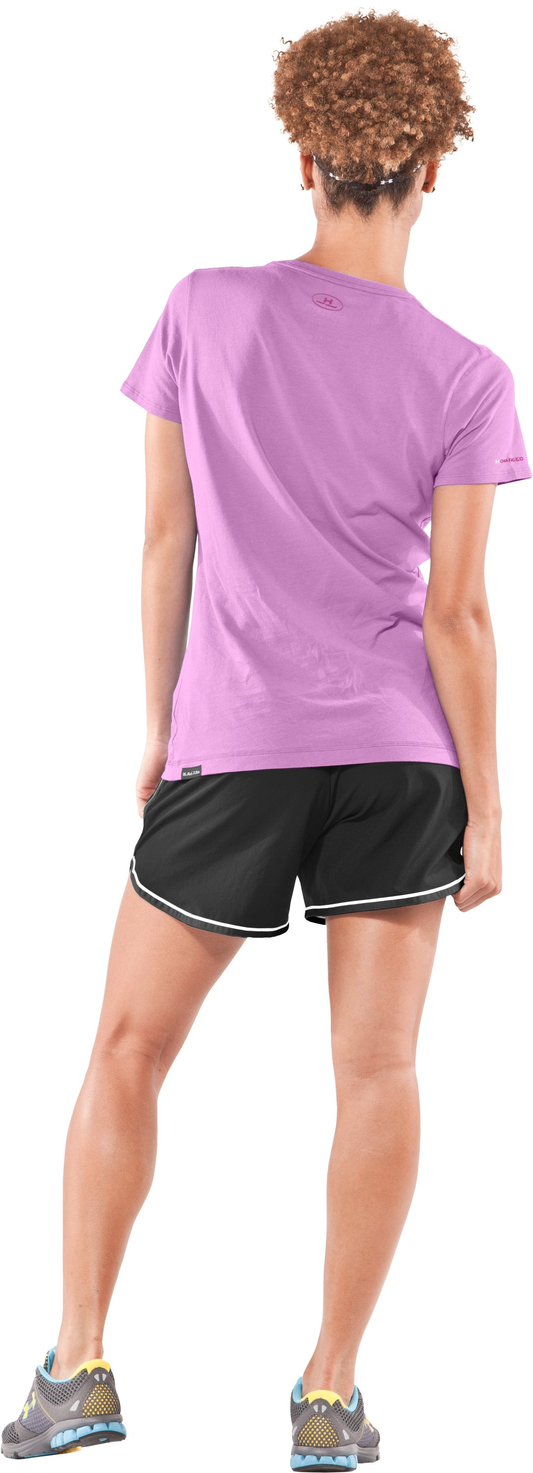 Women's UA Charged Cotton® Short Sleeve T-Shirt, Desire, Back