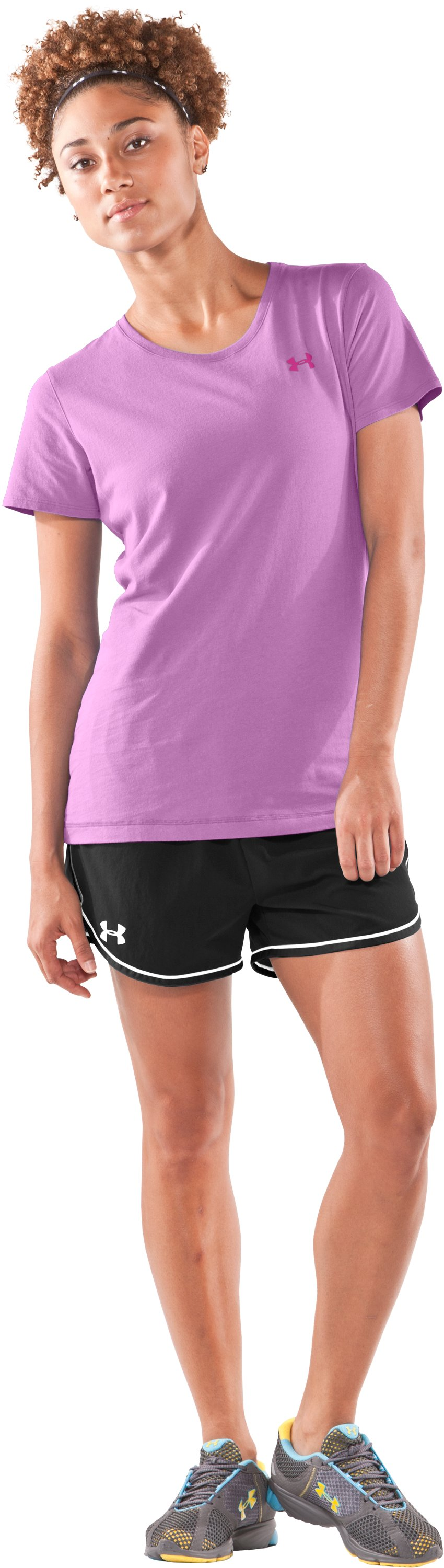 Women's UA Charged Cotton® Short Sleeve T-Shirt, Desire, Front