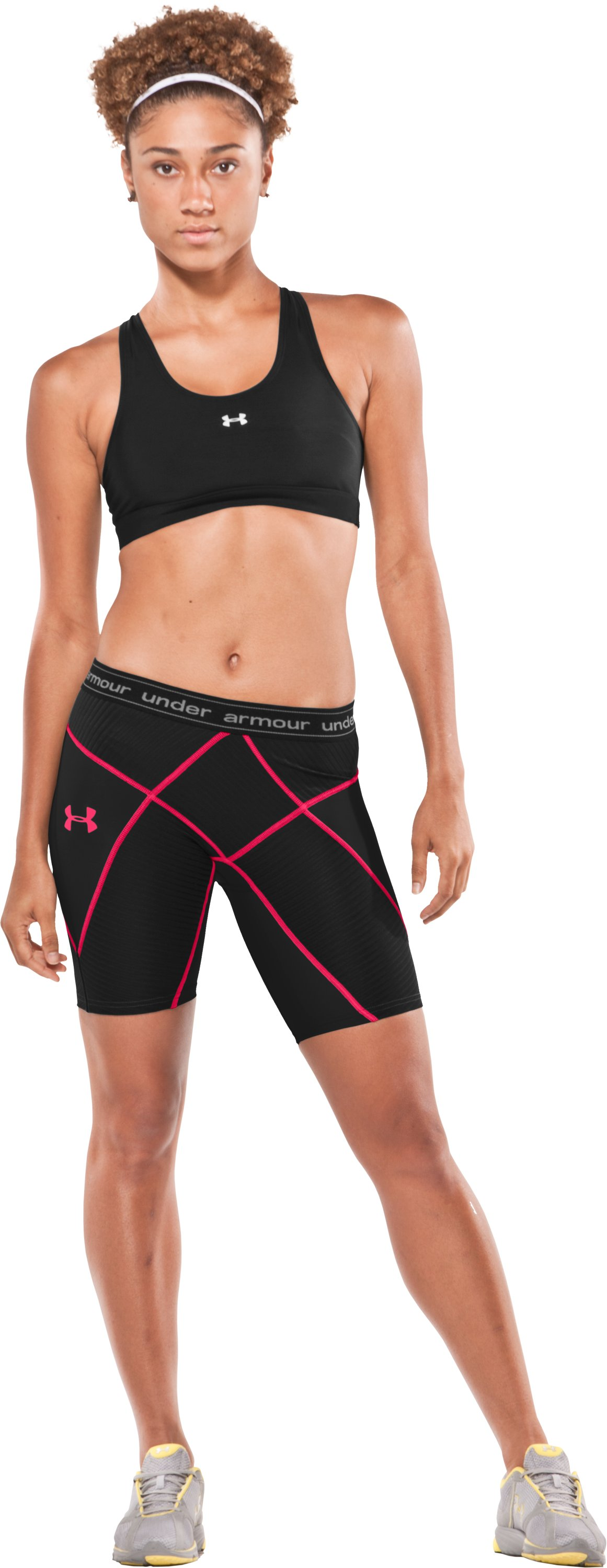 "Women's UA 8"" Coreshorts, Black , Front"