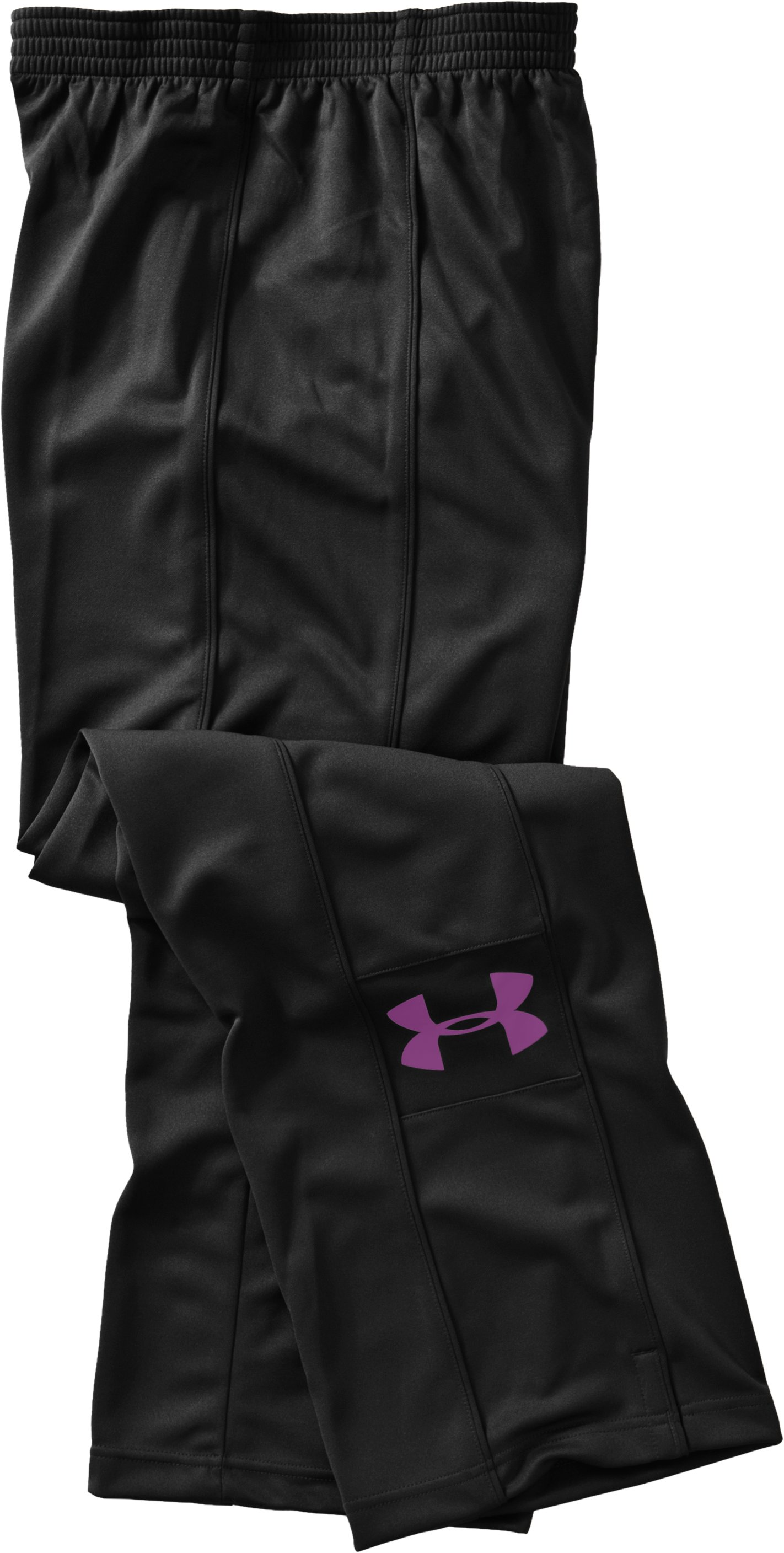 Women's UA Hero Warm-Up Pants, Black , Laydown