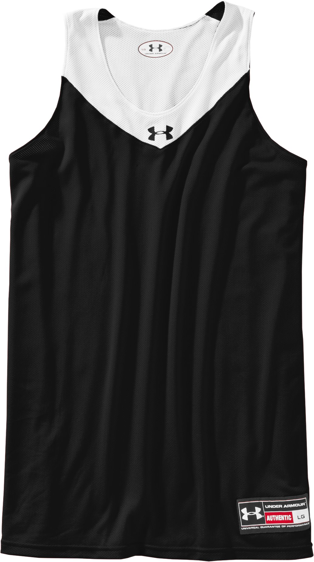 Men's Repeat Reversible Basketball Jersey, Black , Laydown
