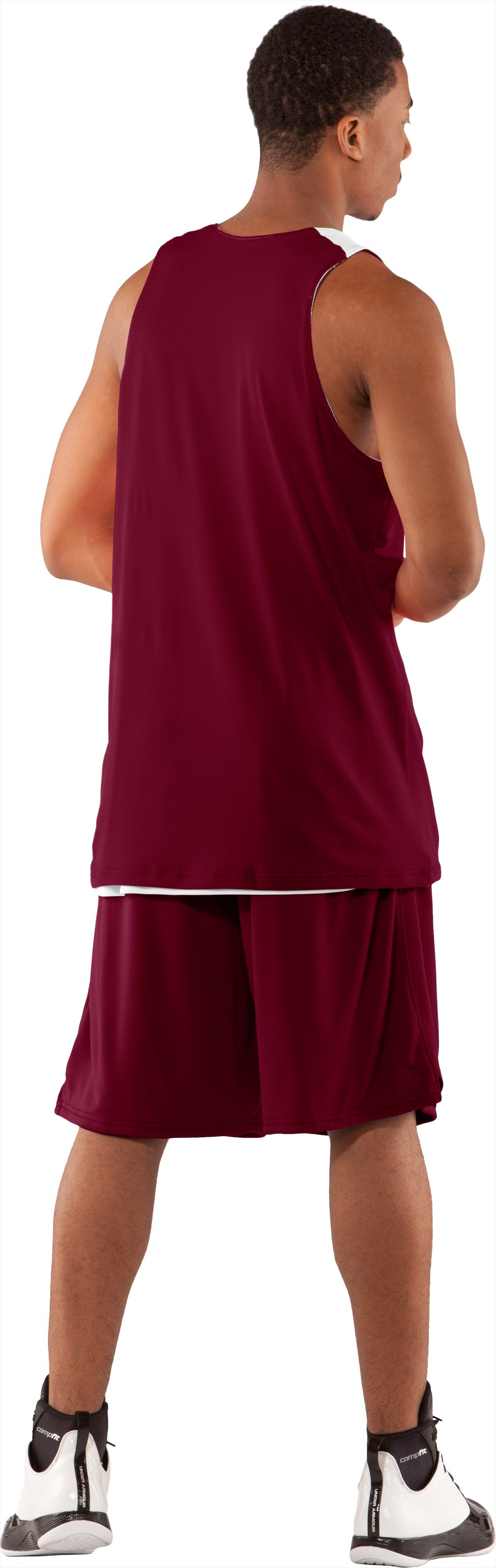 Men's Repeat Reversible Basketball Jersey, Maroon, Back