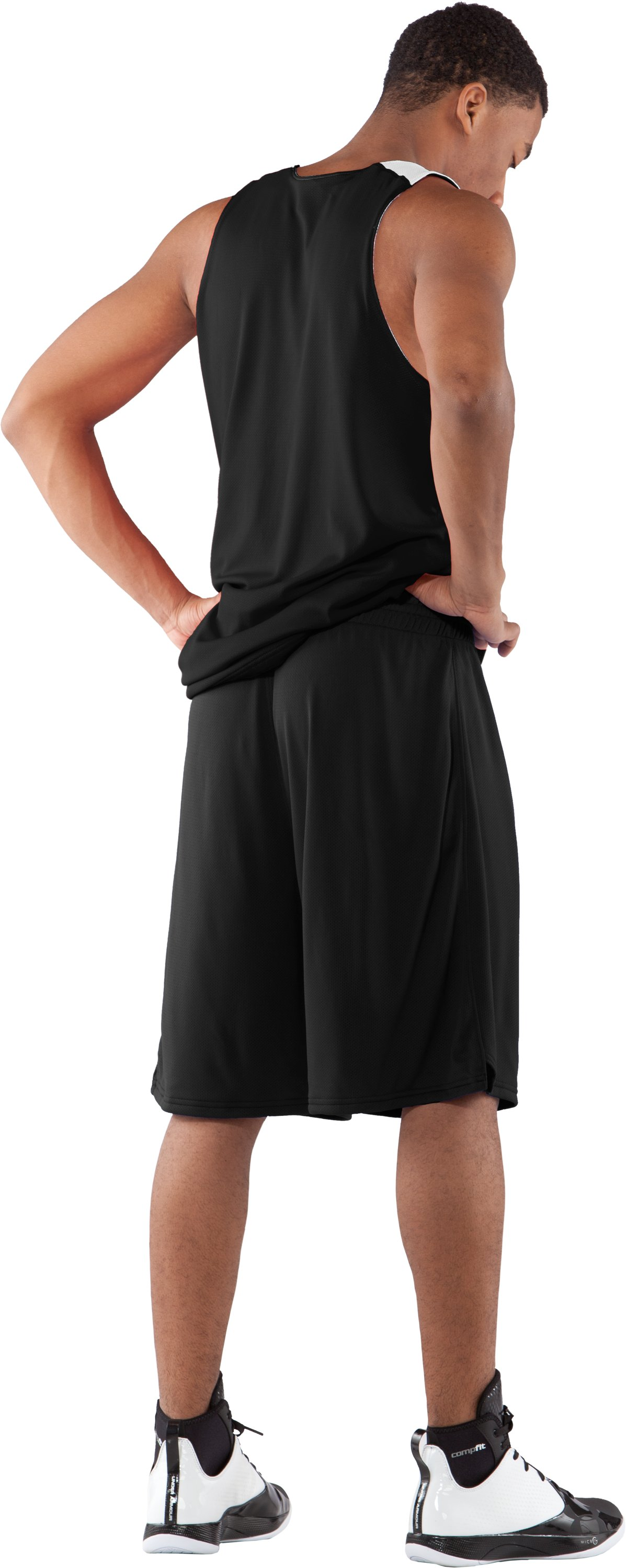 "Men's Dominate 10"" Basketball Shorts, Black , Back"