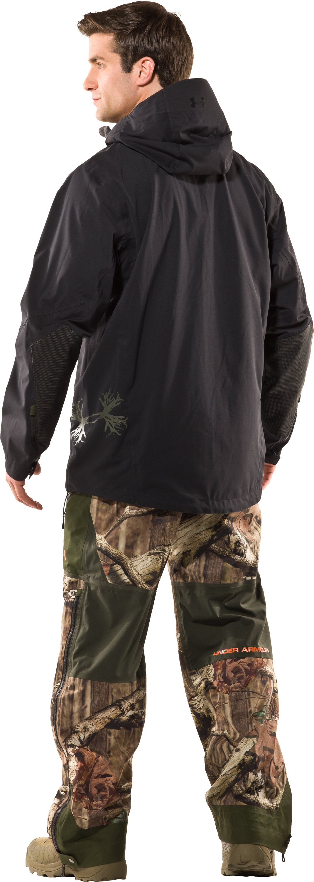 Men's Ridge Reaper® Shell Camo Hunting Jacket, Black , Back
