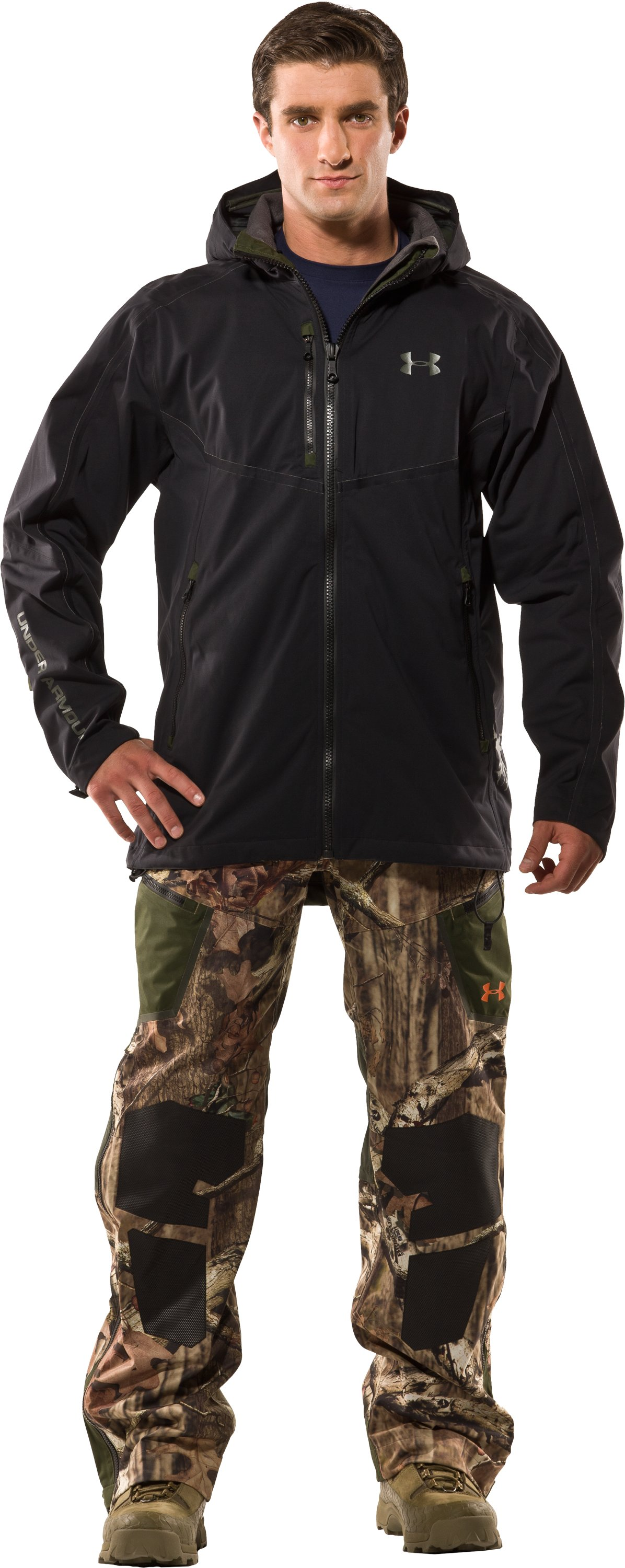 Men's Ridge Reaper® Shell Camo Hunting Jacket, Black , Front