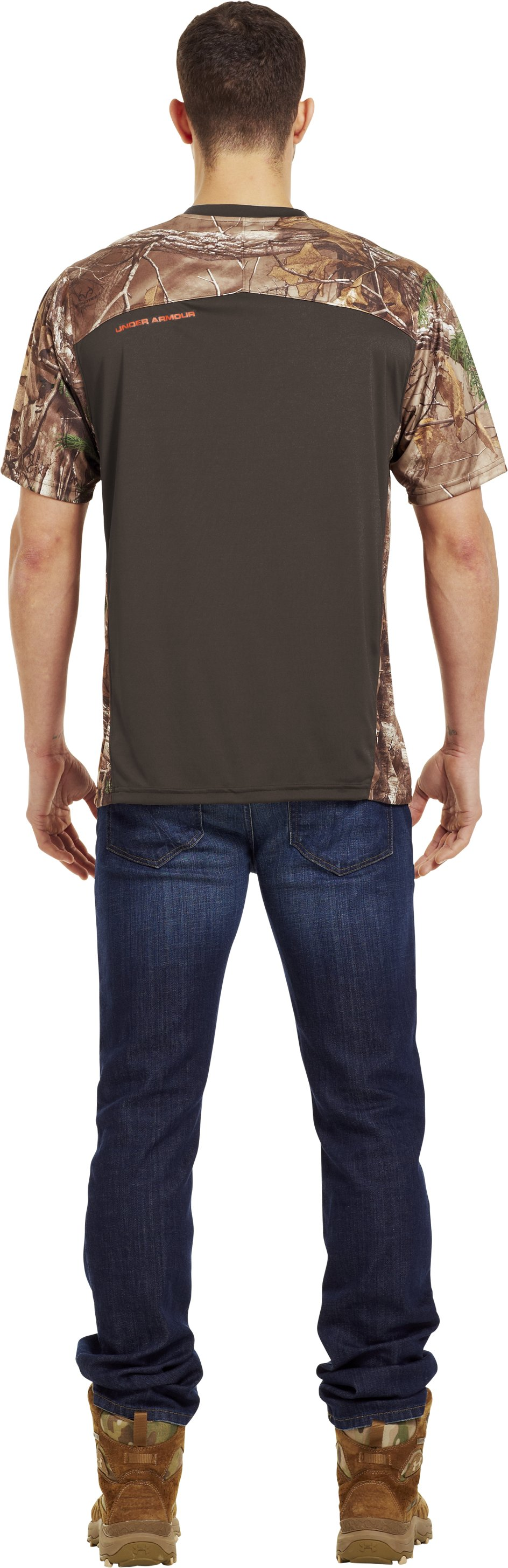 Men's Wylie Short Sleeve Camo T-Shirt, Timber, Back