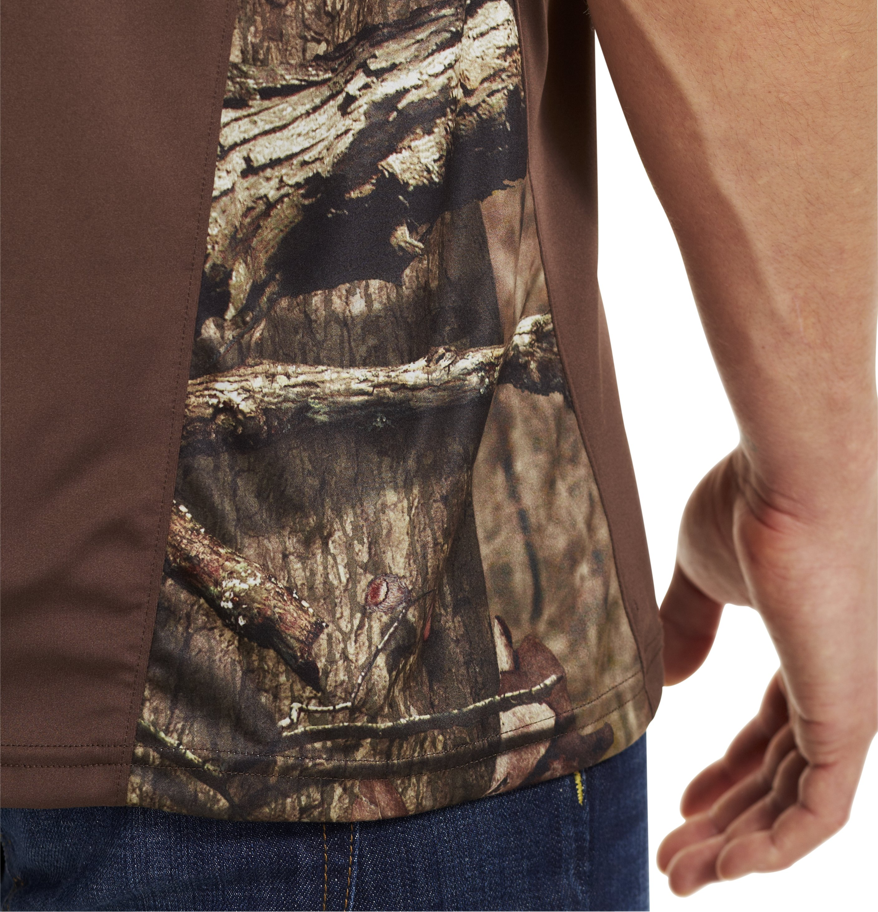 Men's Wylie Short Sleeve Camo T-Shirt, Timber,