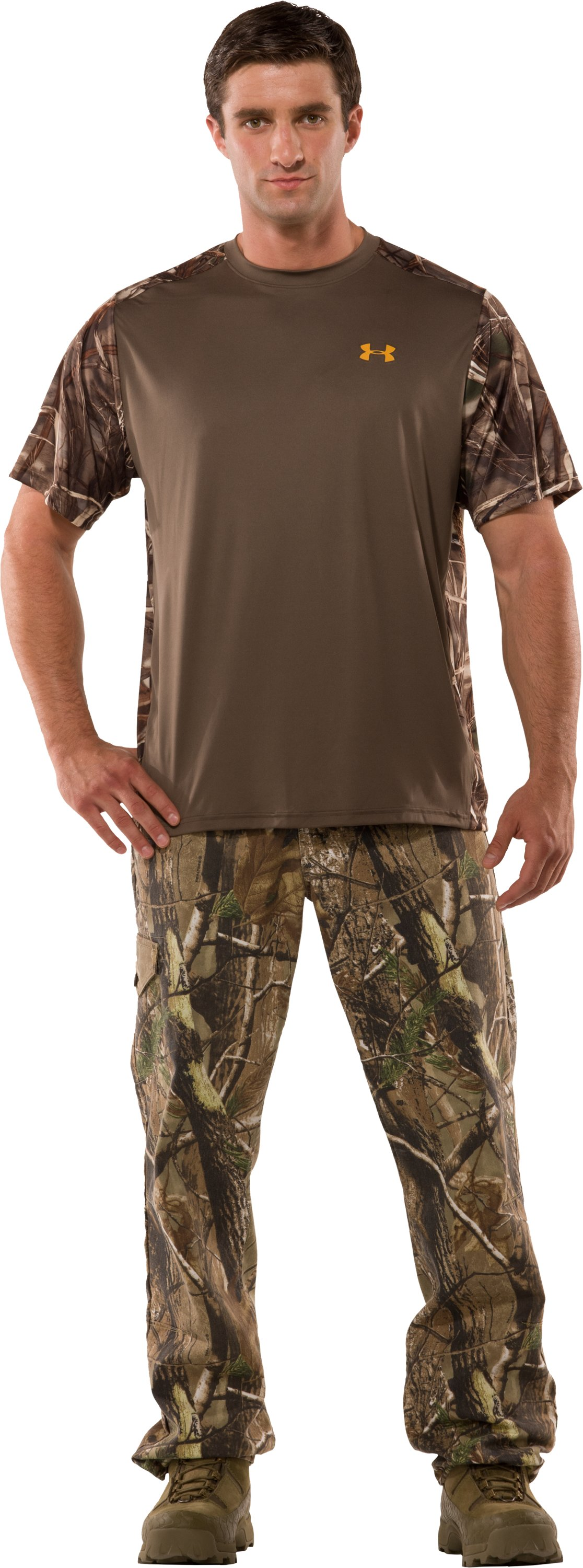 Men's Wylie Short Sleeve Camo T-Shirt, Hearthstone, Front