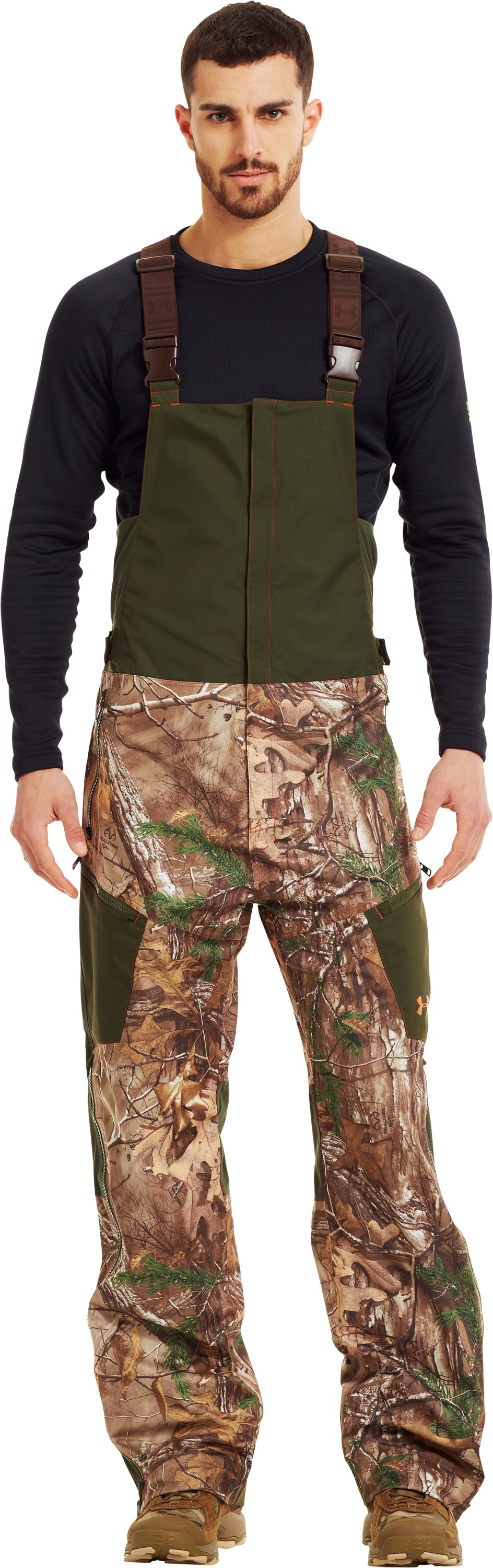 Men's Ridge Reaper® Shell Camo Hunting Bib, REALTREE AP-XTRA, Front