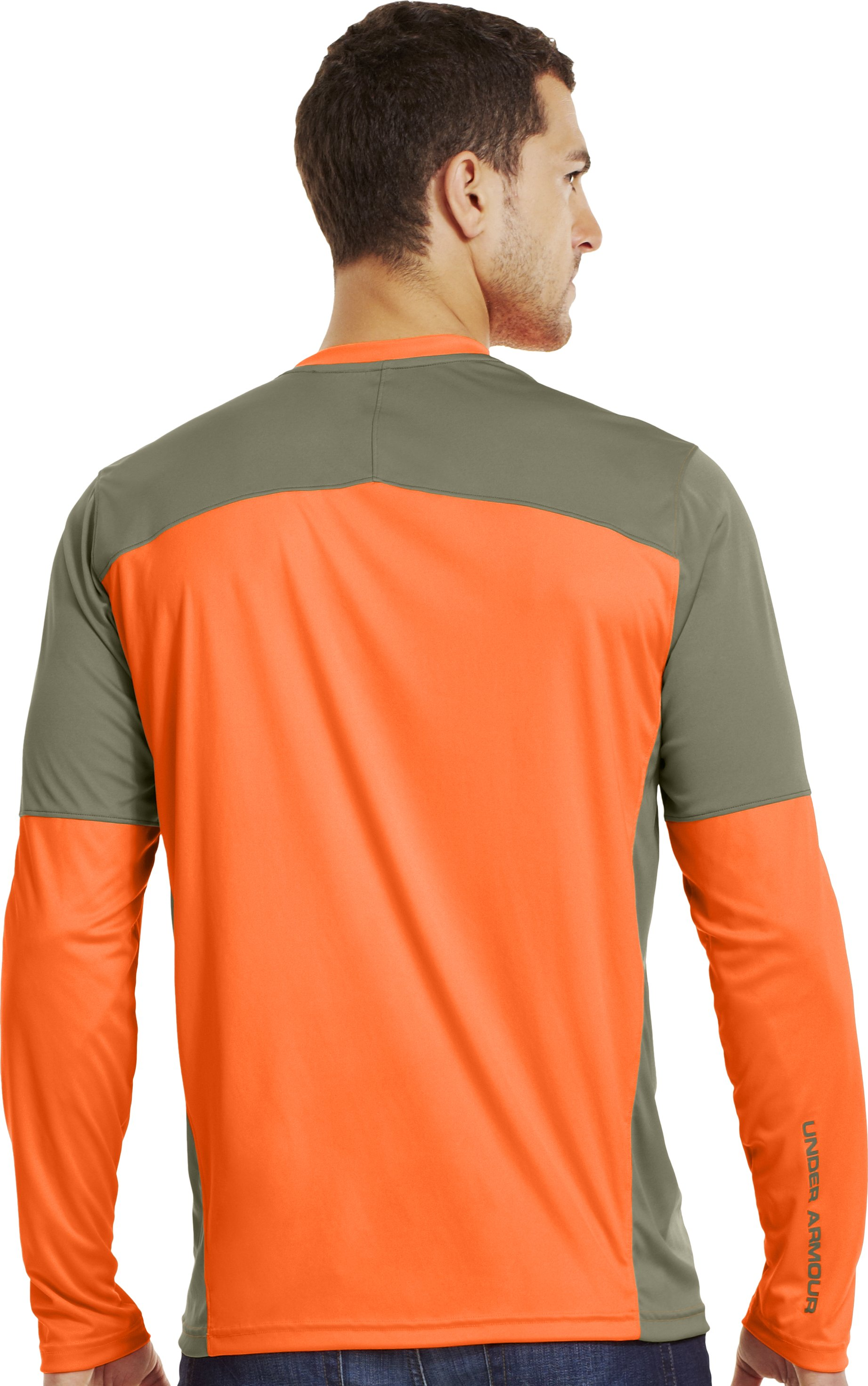 Men's Wylie Long Sleeve Hunting Shirt, Blaze Orange, Back
