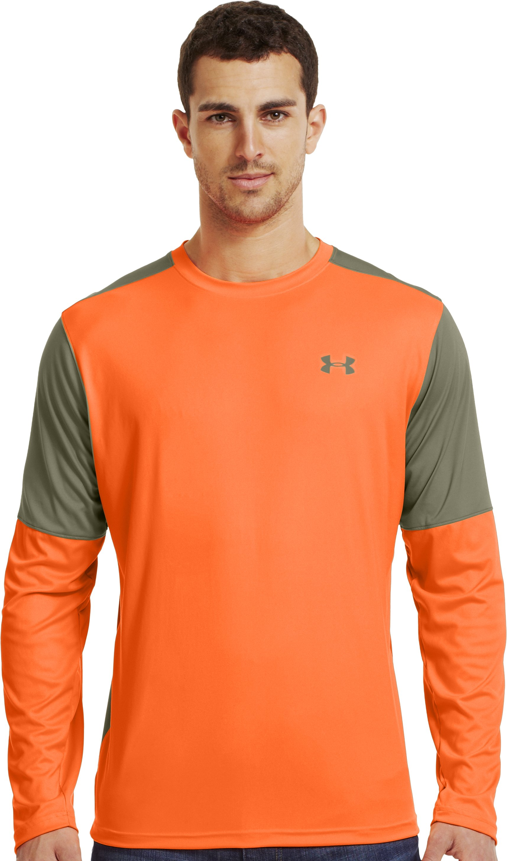 Men's Wylie Long Sleeve Hunting Shirt, Blaze Orange, Front