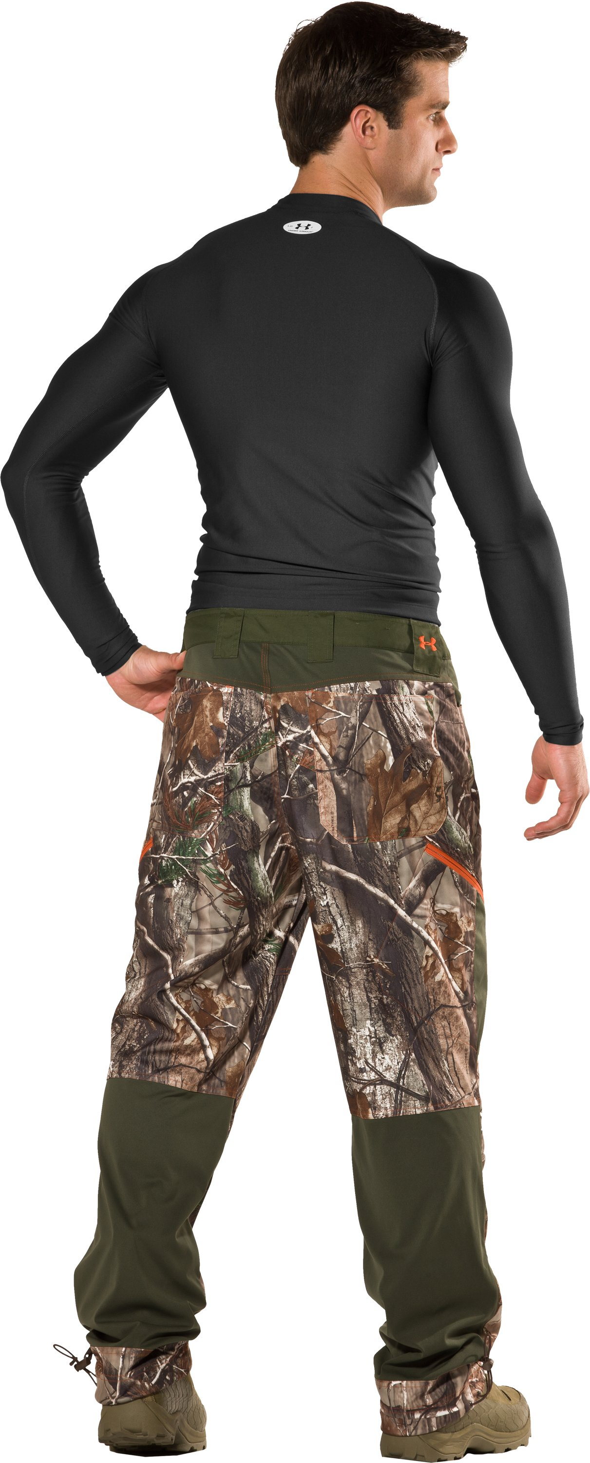 Men's UA Scent Control Early Season Hunting Pants, Realtree AP, Back