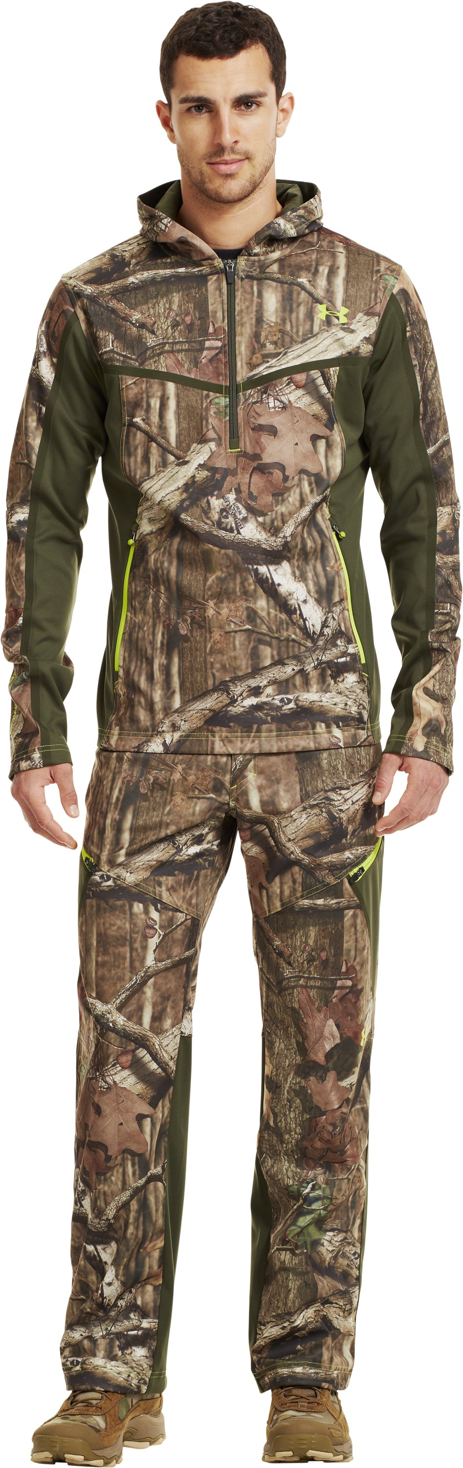 Men's UA Scent Control Early Season Hunting Pants, Mossy Oak Break-Up Infinity, Front