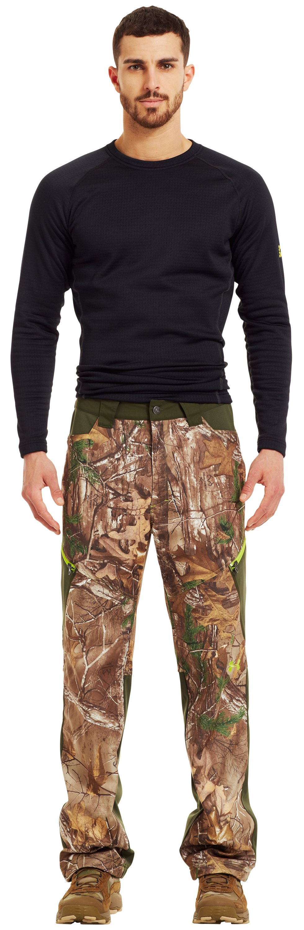 Men's UA Scent Control Early Season Hunting Pants, REALTREE AP-XTRA, Front