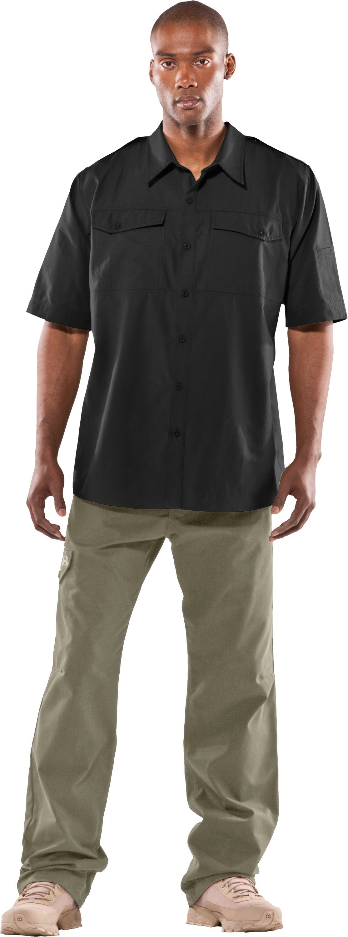 Men's Counter Short Sleeve Tactical Shirt, Black , zoomed image