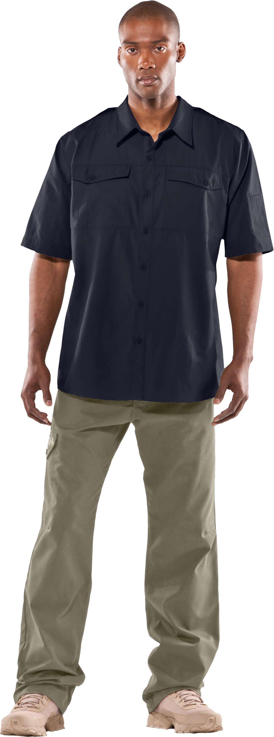 Men's Counter Short Sleeve Tactical Shirt, Dark Navy Blue , zoomed image
