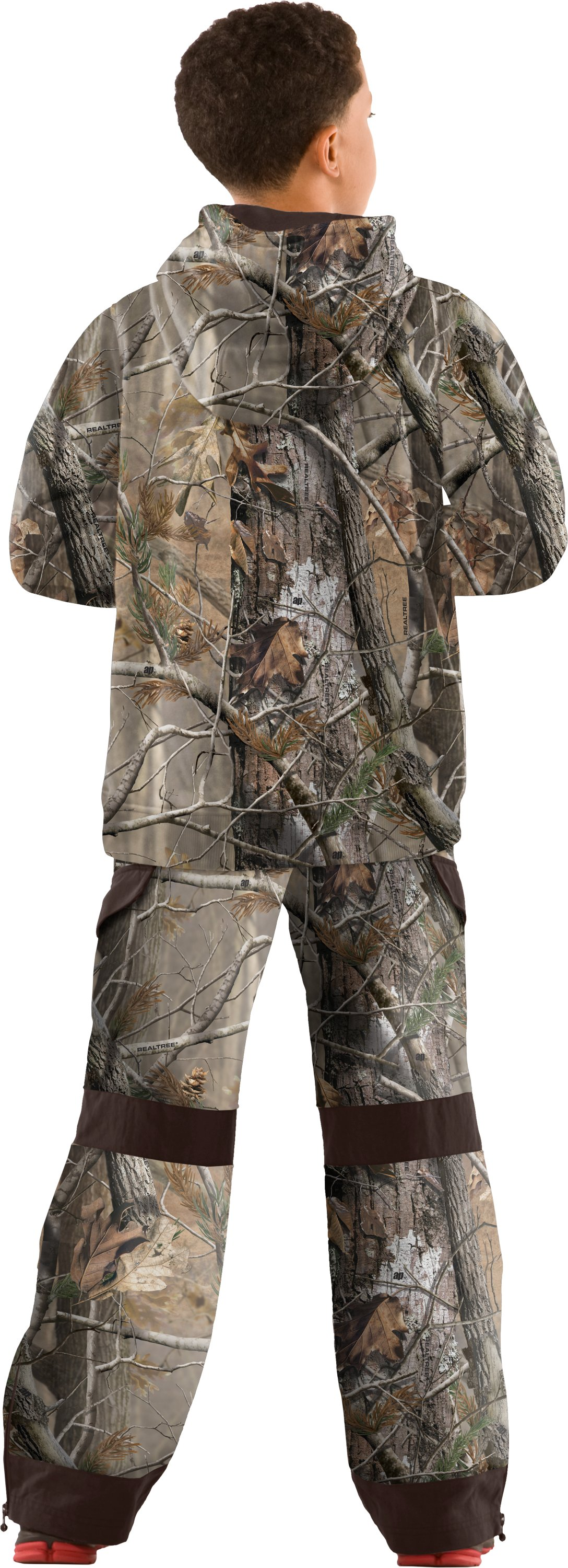 Boys' Ayton Camo Hunting Pants, Realtree AP, Back