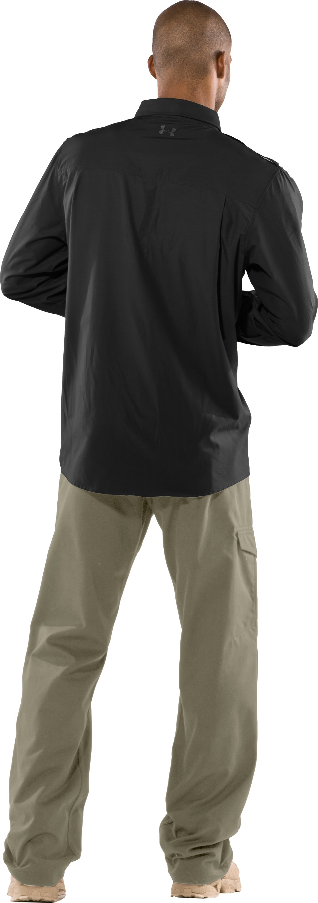Men's Counter Long Sleeve Tactical Shirt, Black , Back