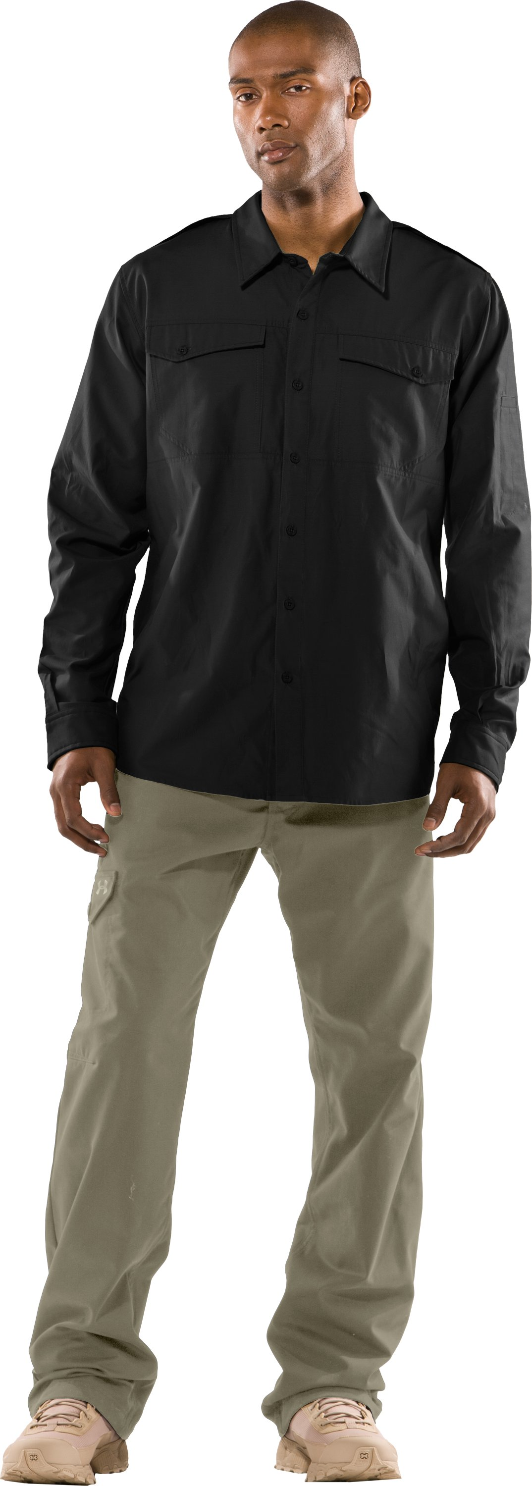 Men's Counter Long Sleeve Tactical Shirt, Black , Front