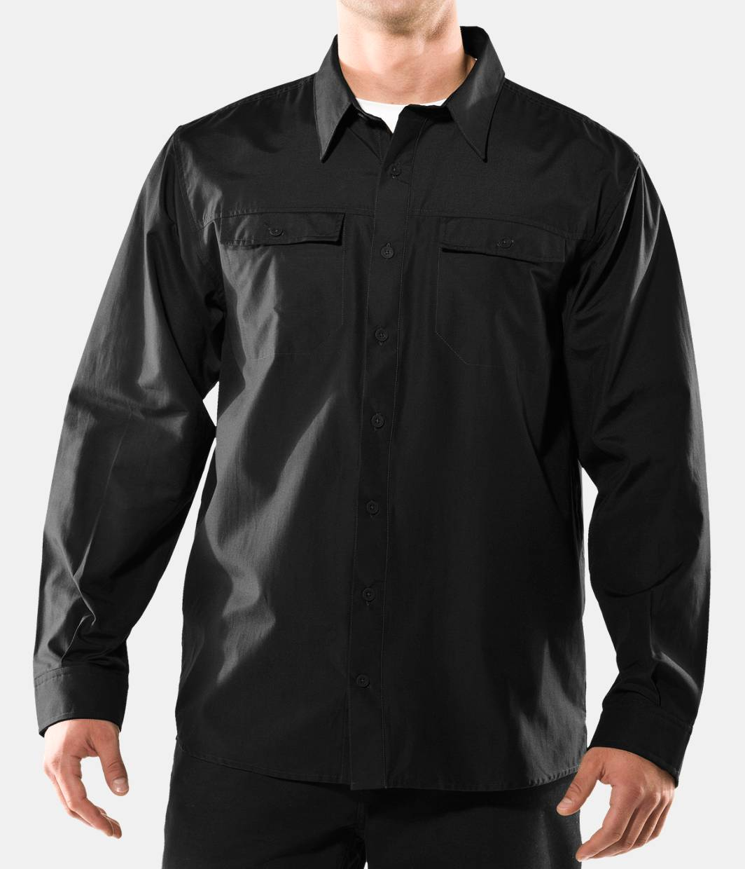 Men S Solid Long Sleeve Button Down Shirt Under Armour Us