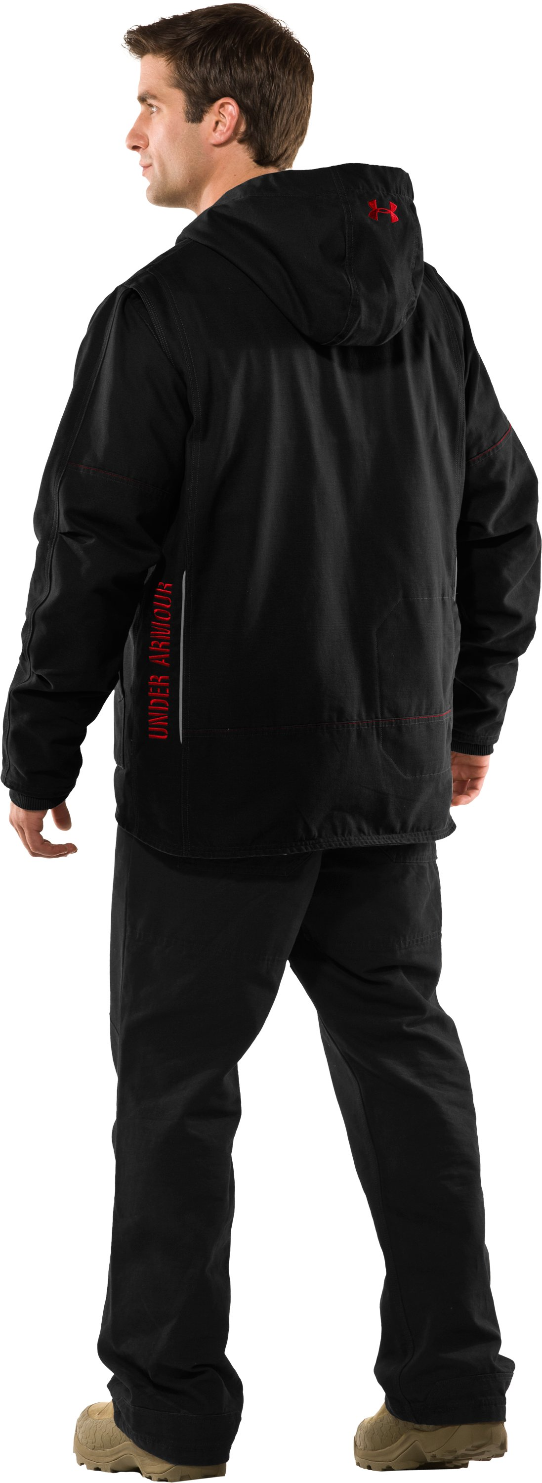 Men's Burley Hoodie, Black , Back