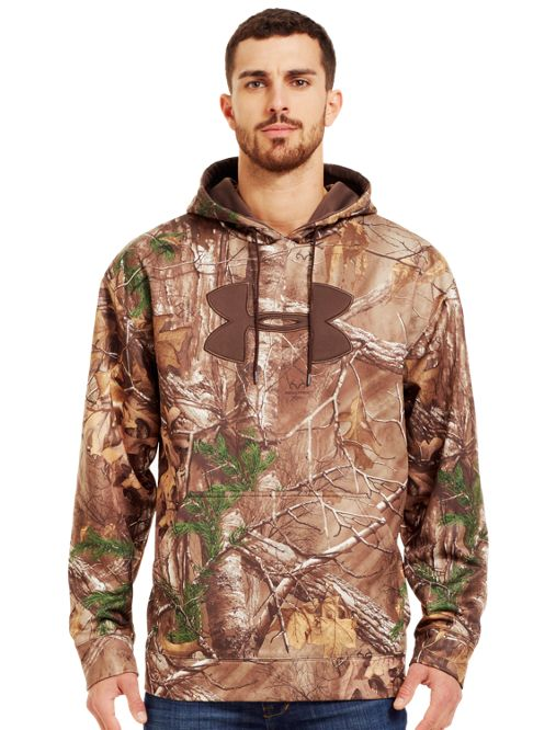 e860efdace0c Men s Armour® Fleece Big Logo Camo Hoodie