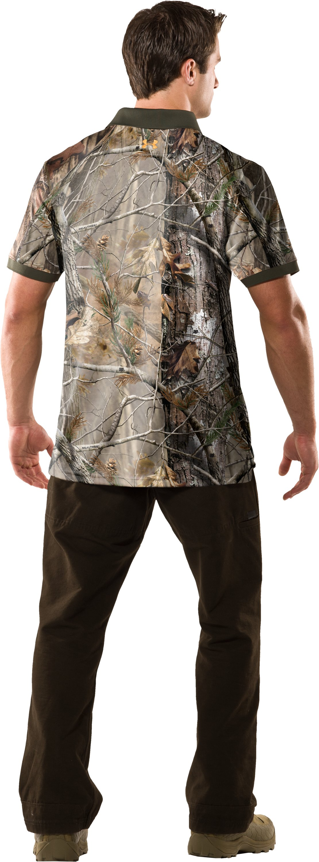 Men's UA Hunt Camouflage Polo, Realtree AP, Back