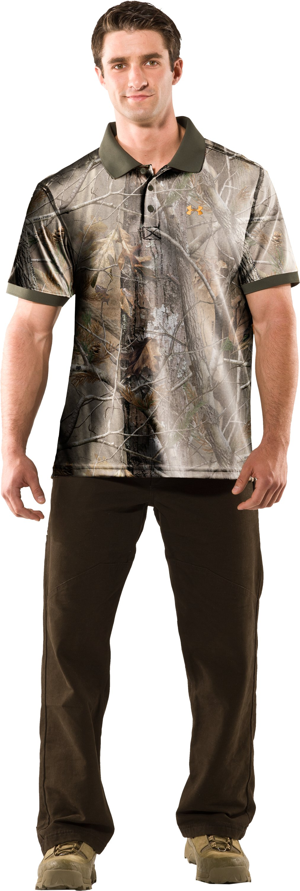 Men's UA Hunt Camouflage Polo, Realtree AP, Front