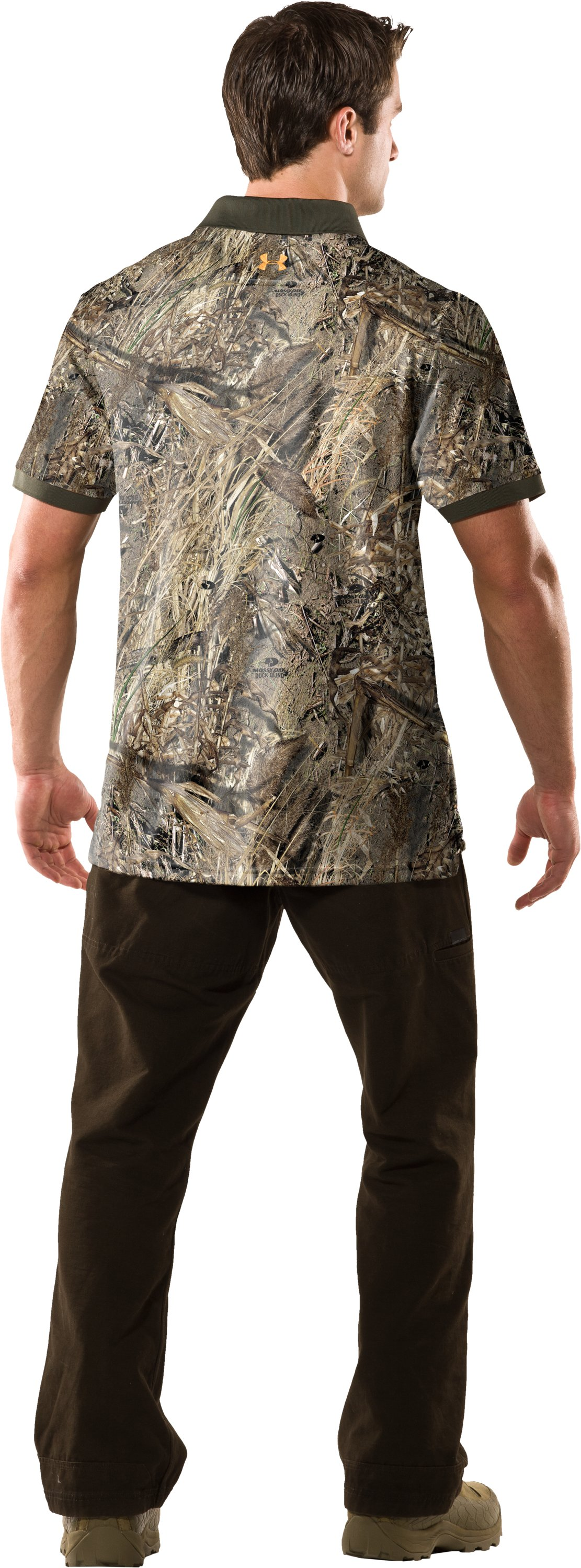 Men's UA Hunt Camouflage Polo, Duck Blind, Back