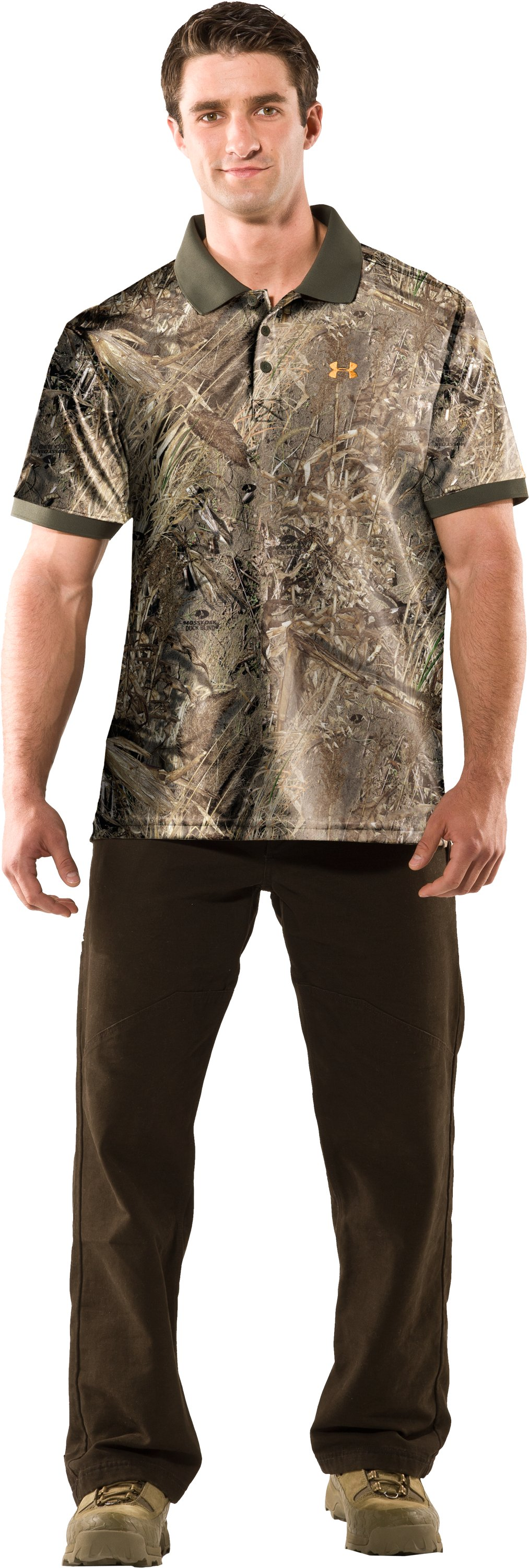 Men's UA Hunt Camouflage Polo, Duck Blind, Front
