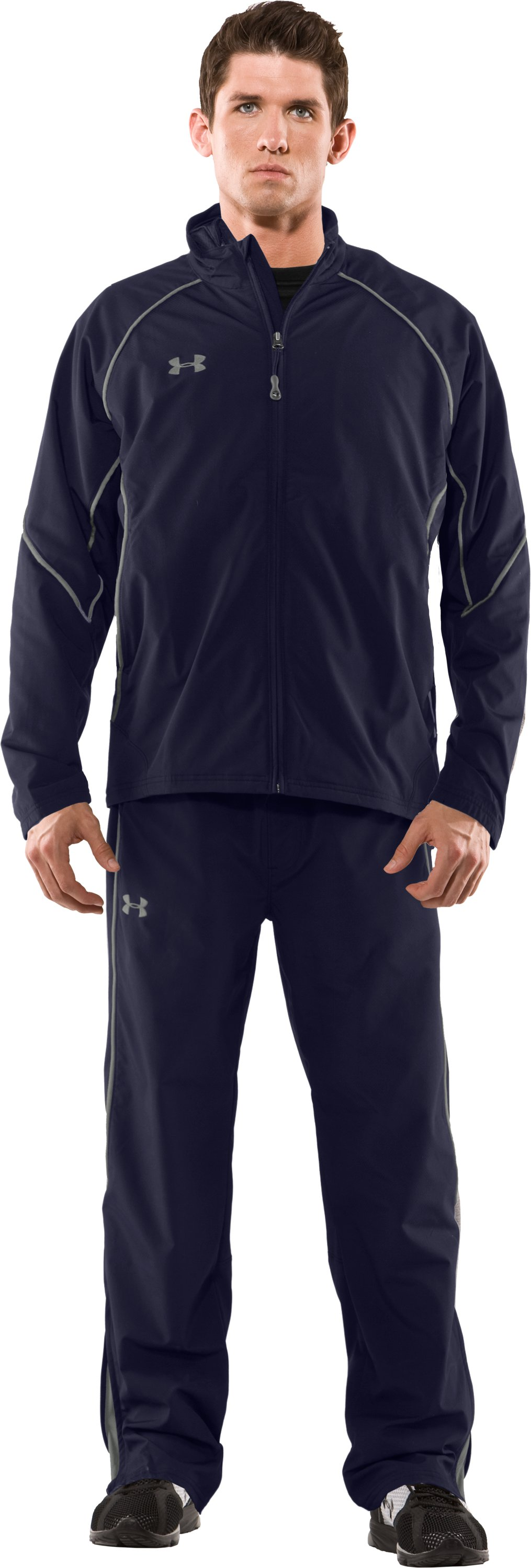 Men's UA Hockey Warm-Up Jacket, Midnight Navy, Front