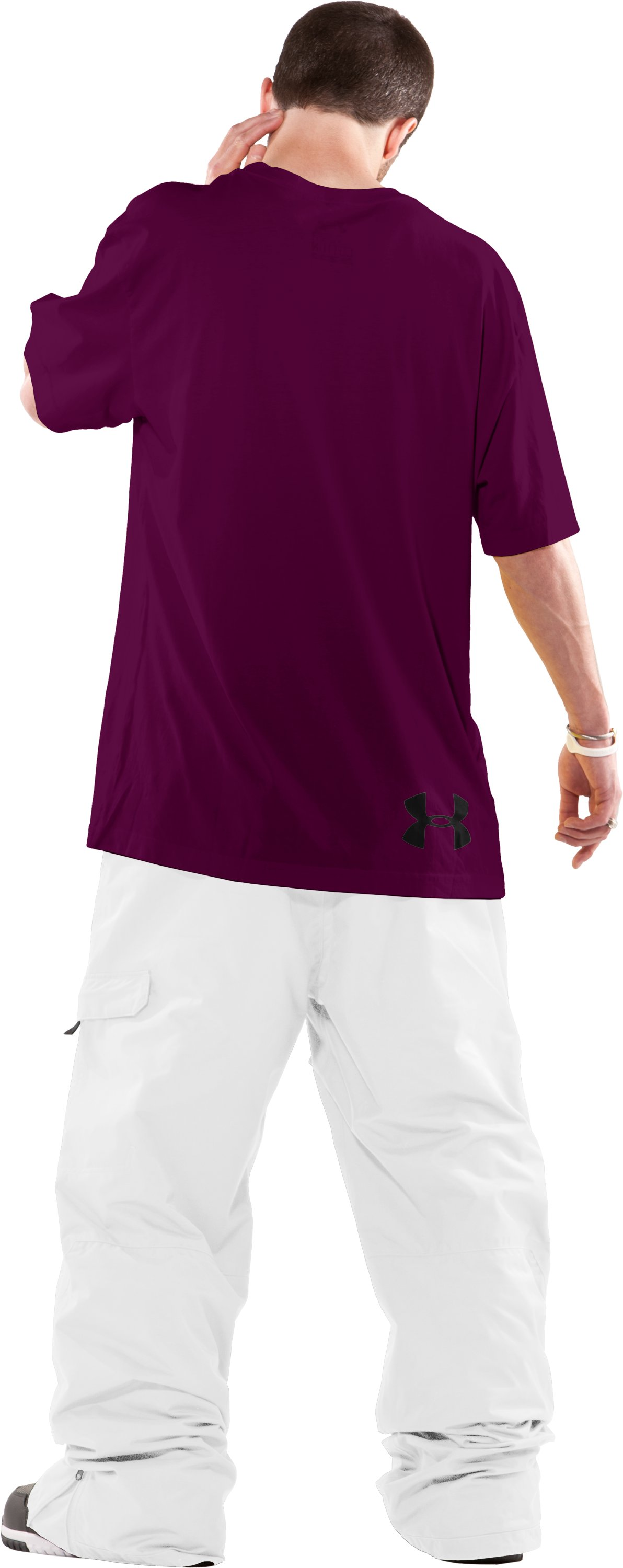 Men's UA Mountain Charged Cotton® T-Shirt, Aubergine, Back