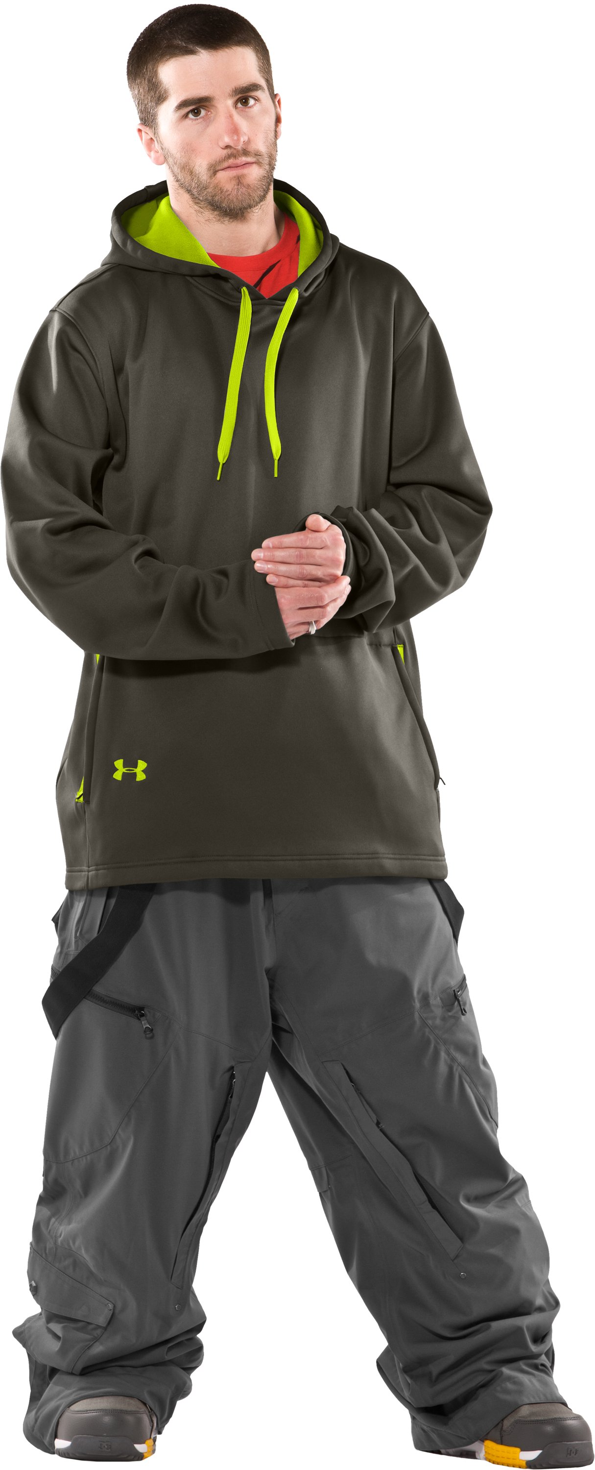Men's UA Hundo® Mountain Hoodie, Rifle Green, Front
