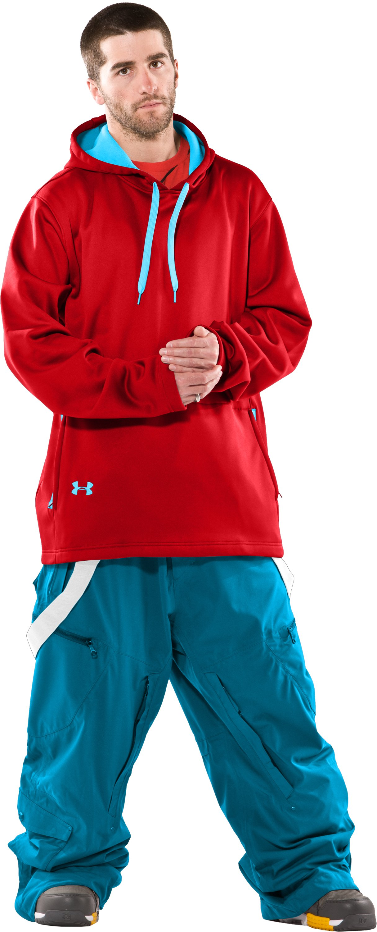 Men's UA Hundo® Mountain Hoodie, University Red, Front