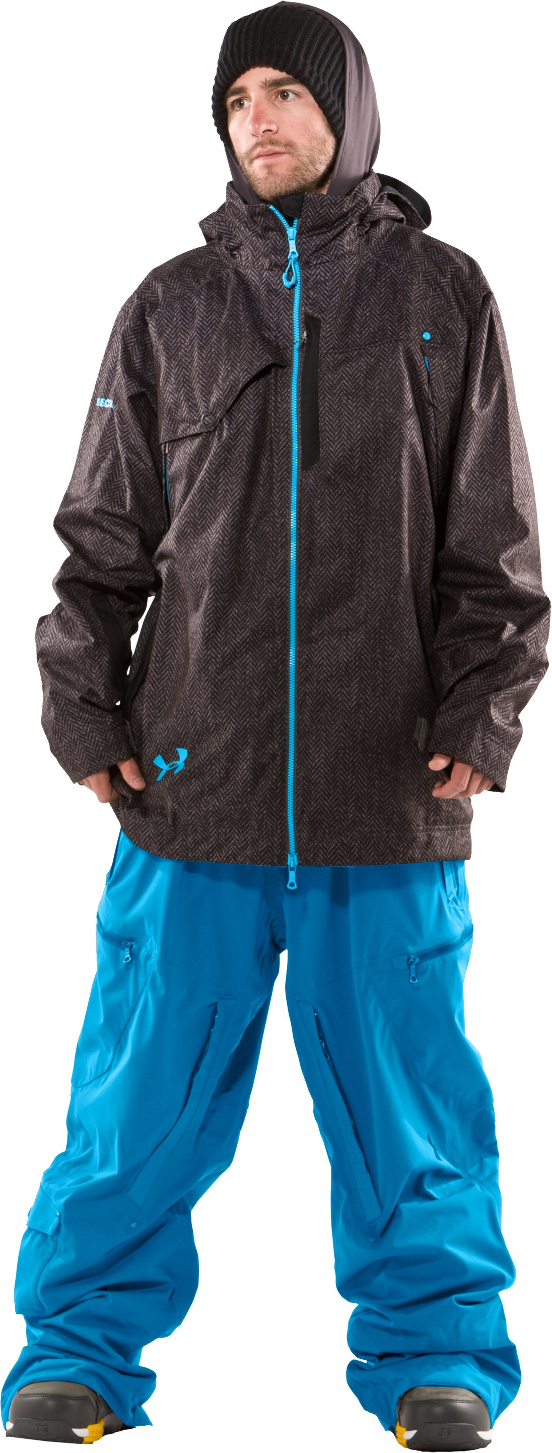 Men's UA Snowpocalypse Ski Jacket, Charcoal