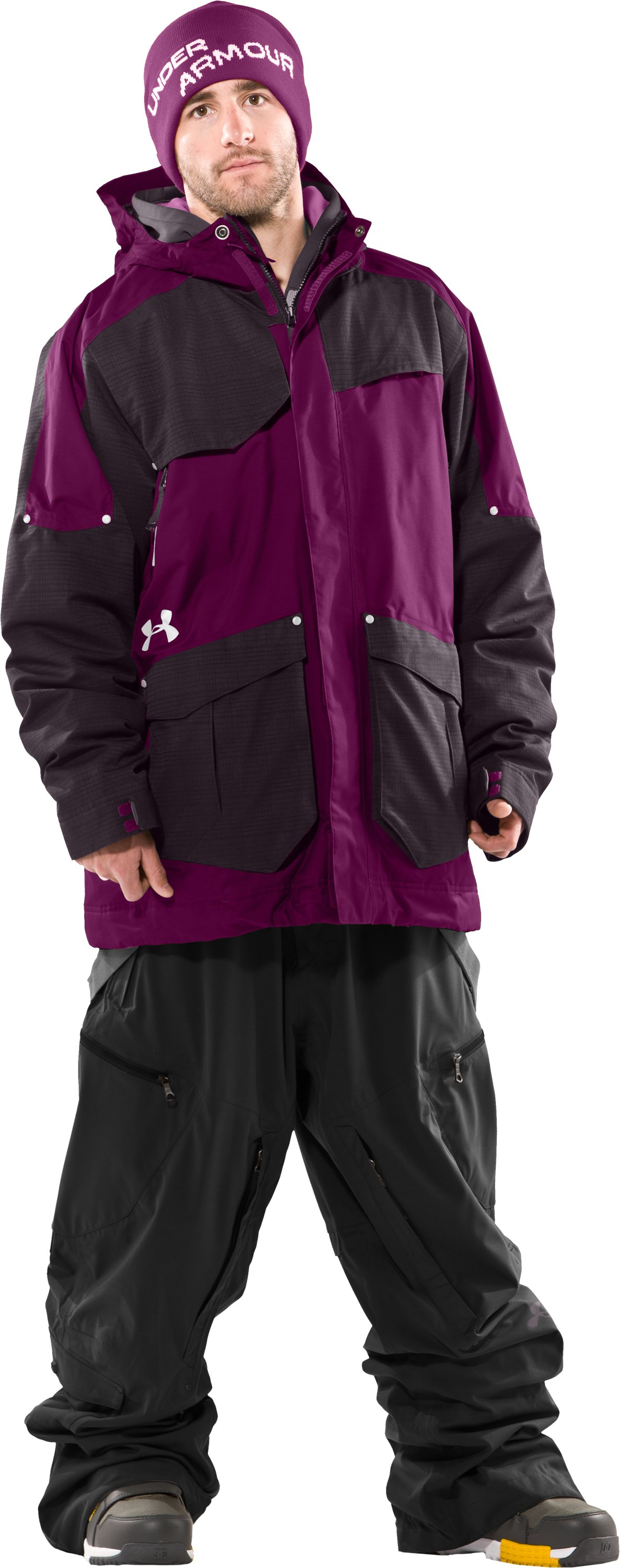 Men's UA Solid Insulated Jacket, Aubergine