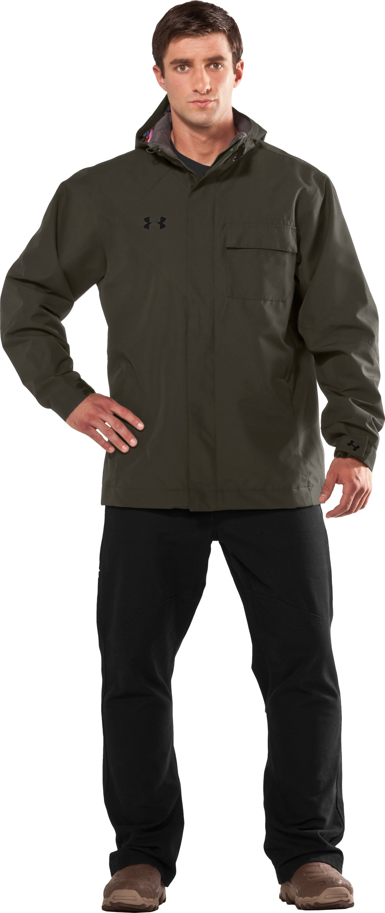 Men's Big Shell Hunting Jacket, Rifle Green, Front