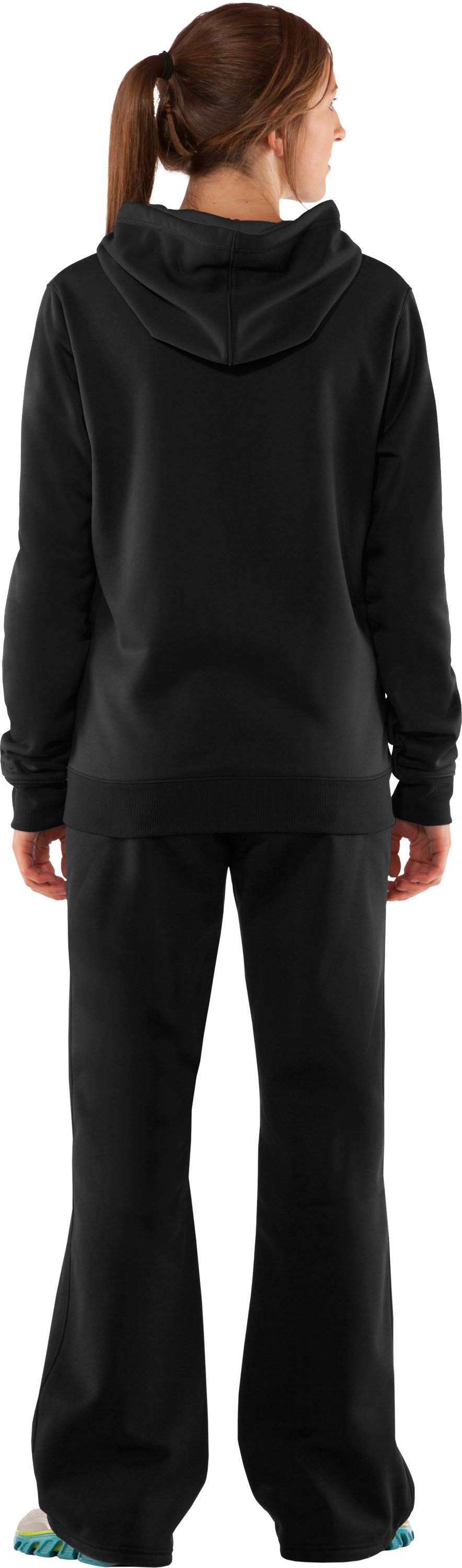 Women's  UA Storm Tackle Twill Hoodie, Black , Back
