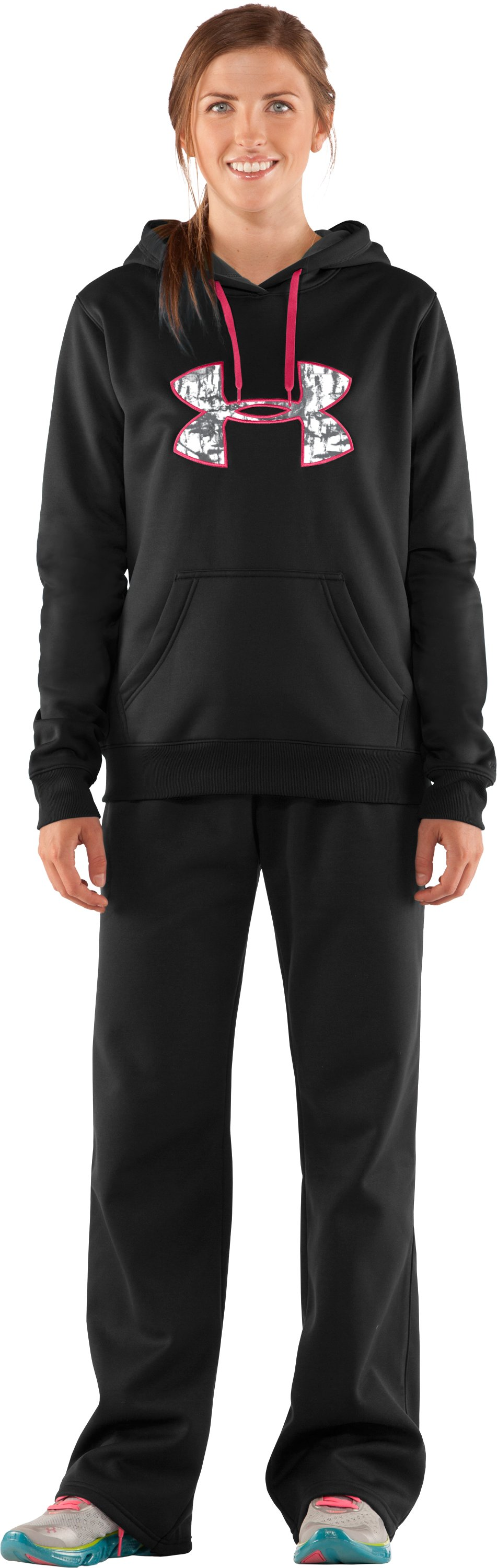 Women's  UA Storm Tackle Twill Hoodie, Black , Front