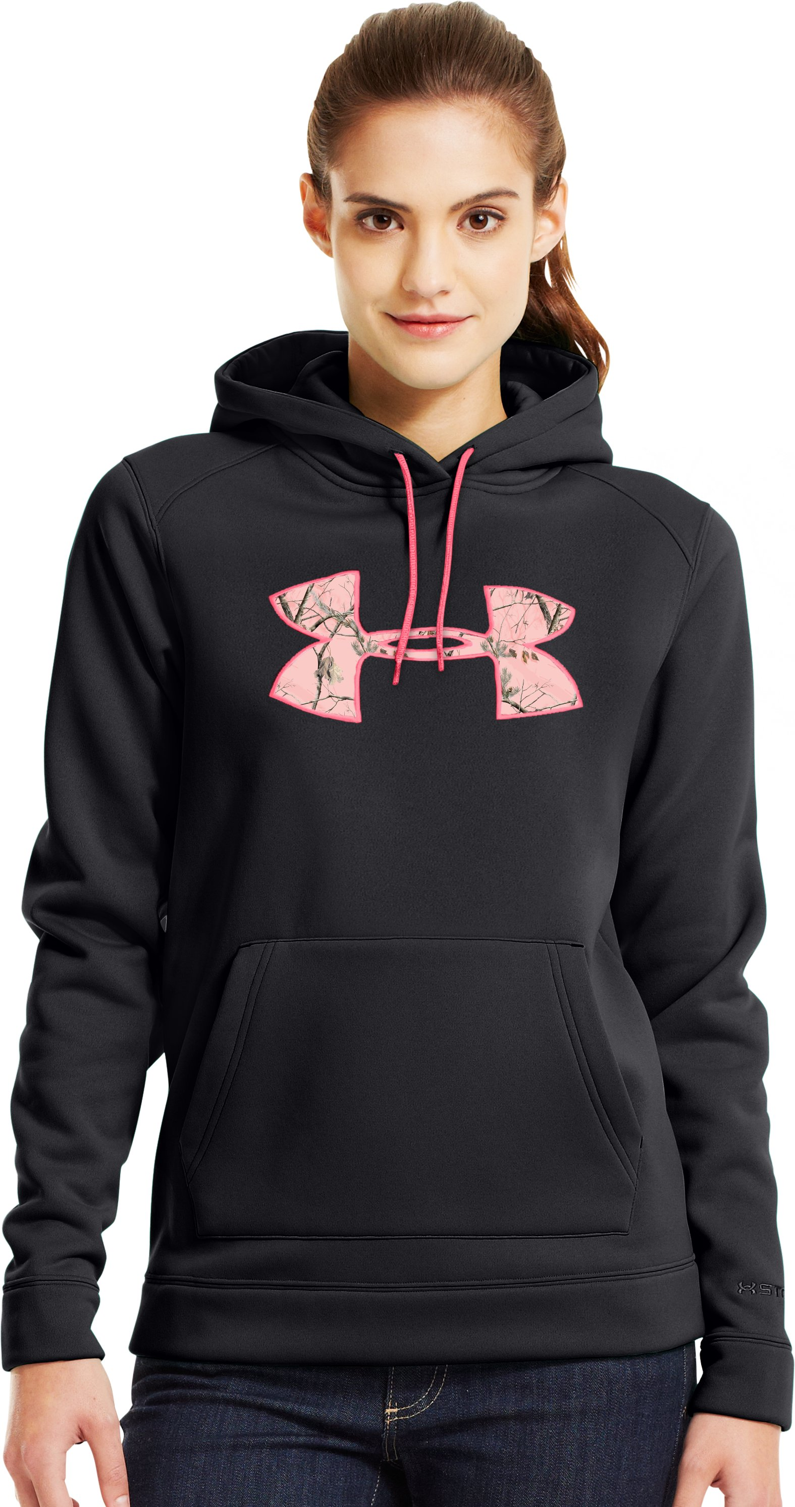 Women's UA Storm Tackle Twill Hoodie, Black , zoomed image